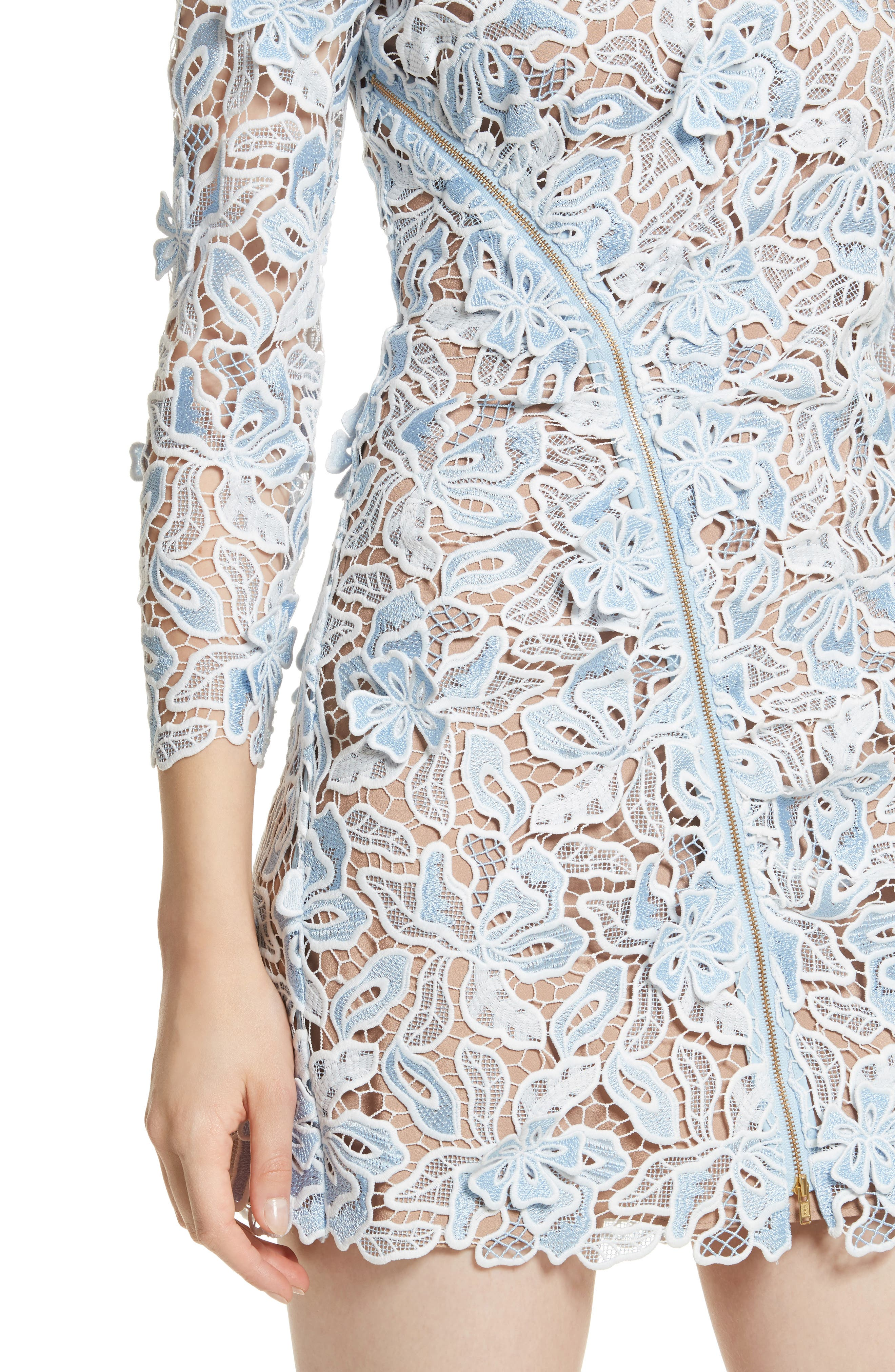 Lily 3D Lace Minidress,                             Alternate thumbnail 4, color,                             400