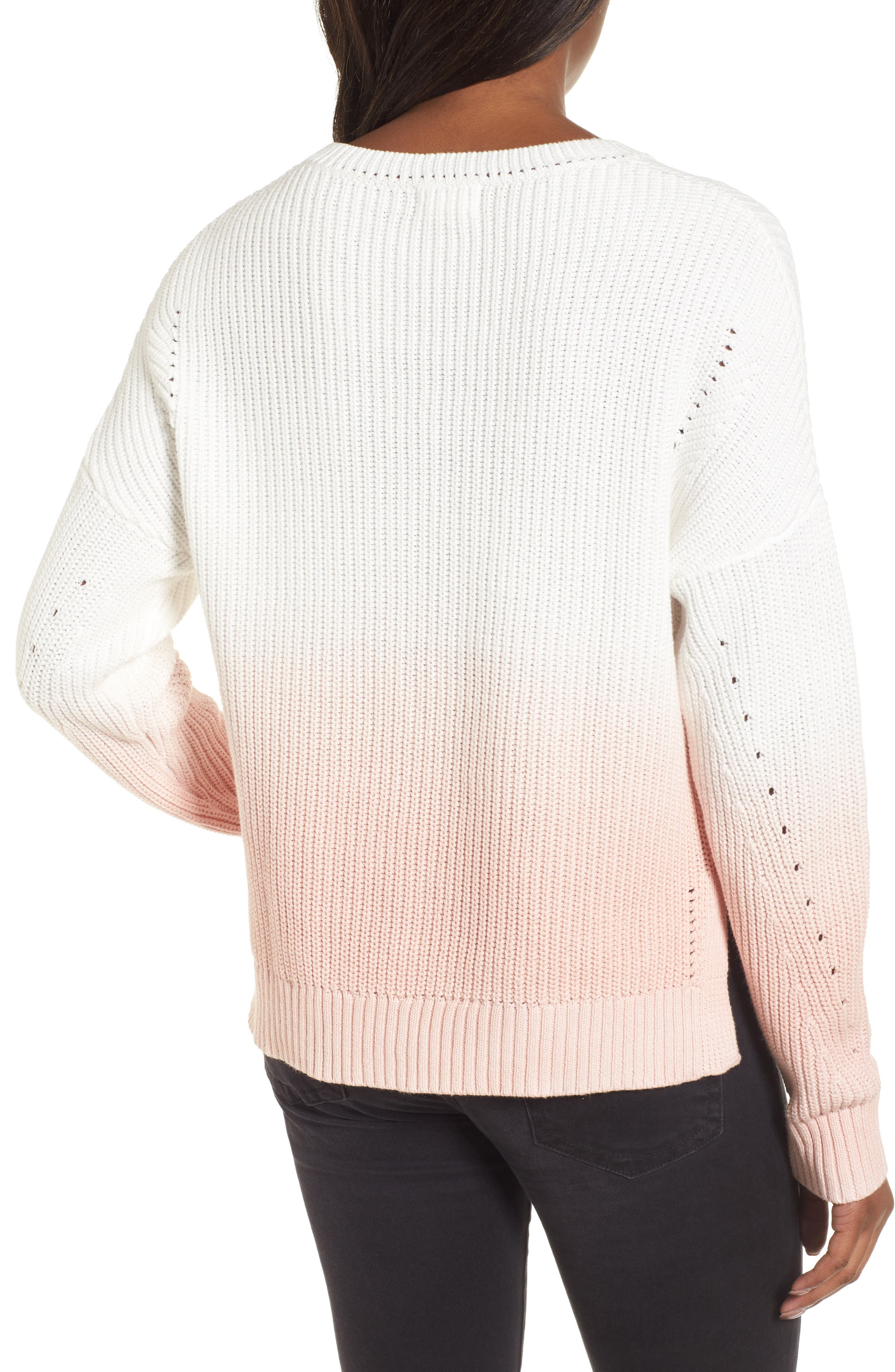 Shaker Stitch Cotton Sweater,                             Alternate thumbnail 4, color,