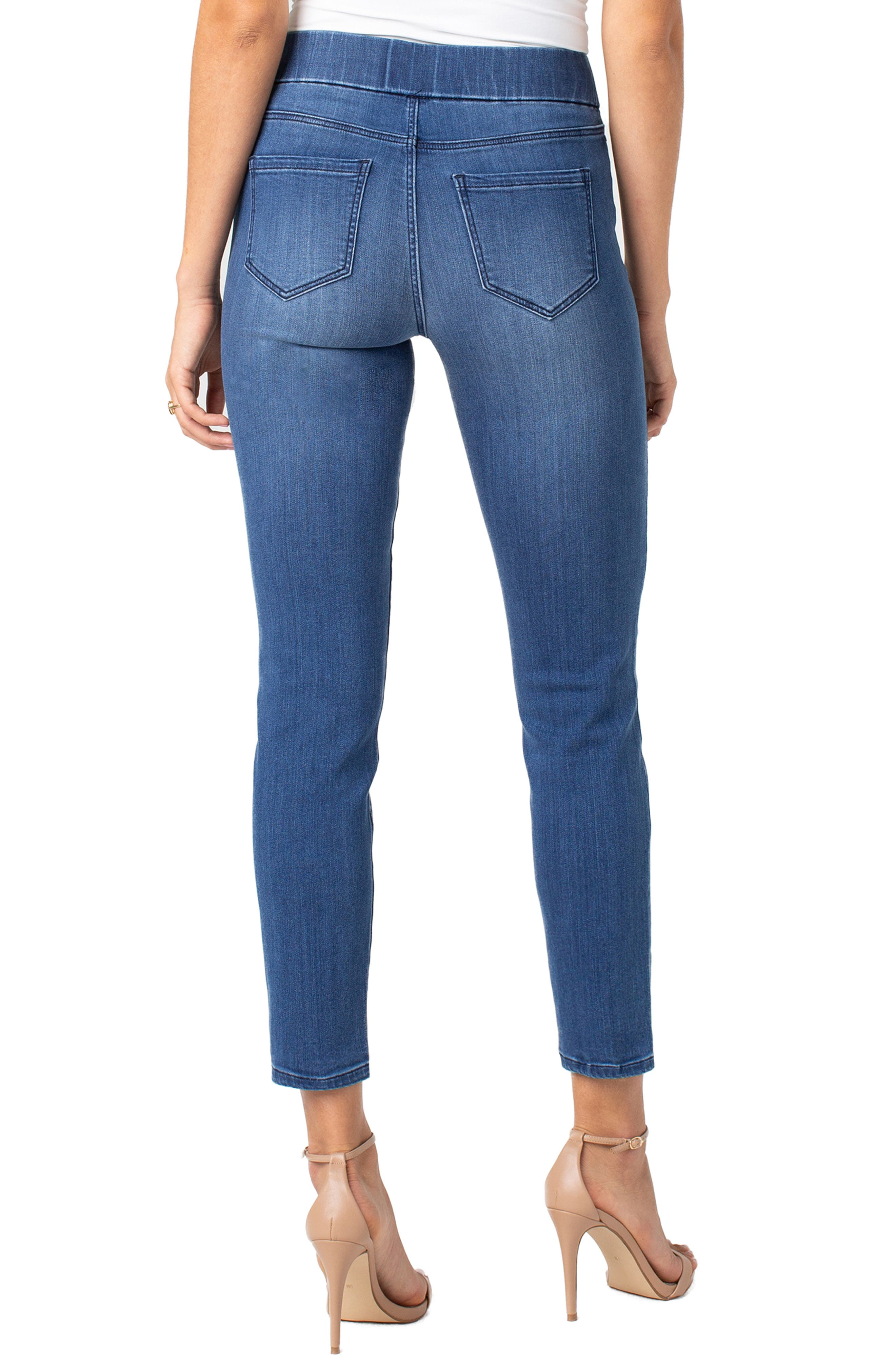 Jeans Company Meridith Pull-On Slim Ankle Jeans,                             Alternate thumbnail 2, color,                             HARLOW