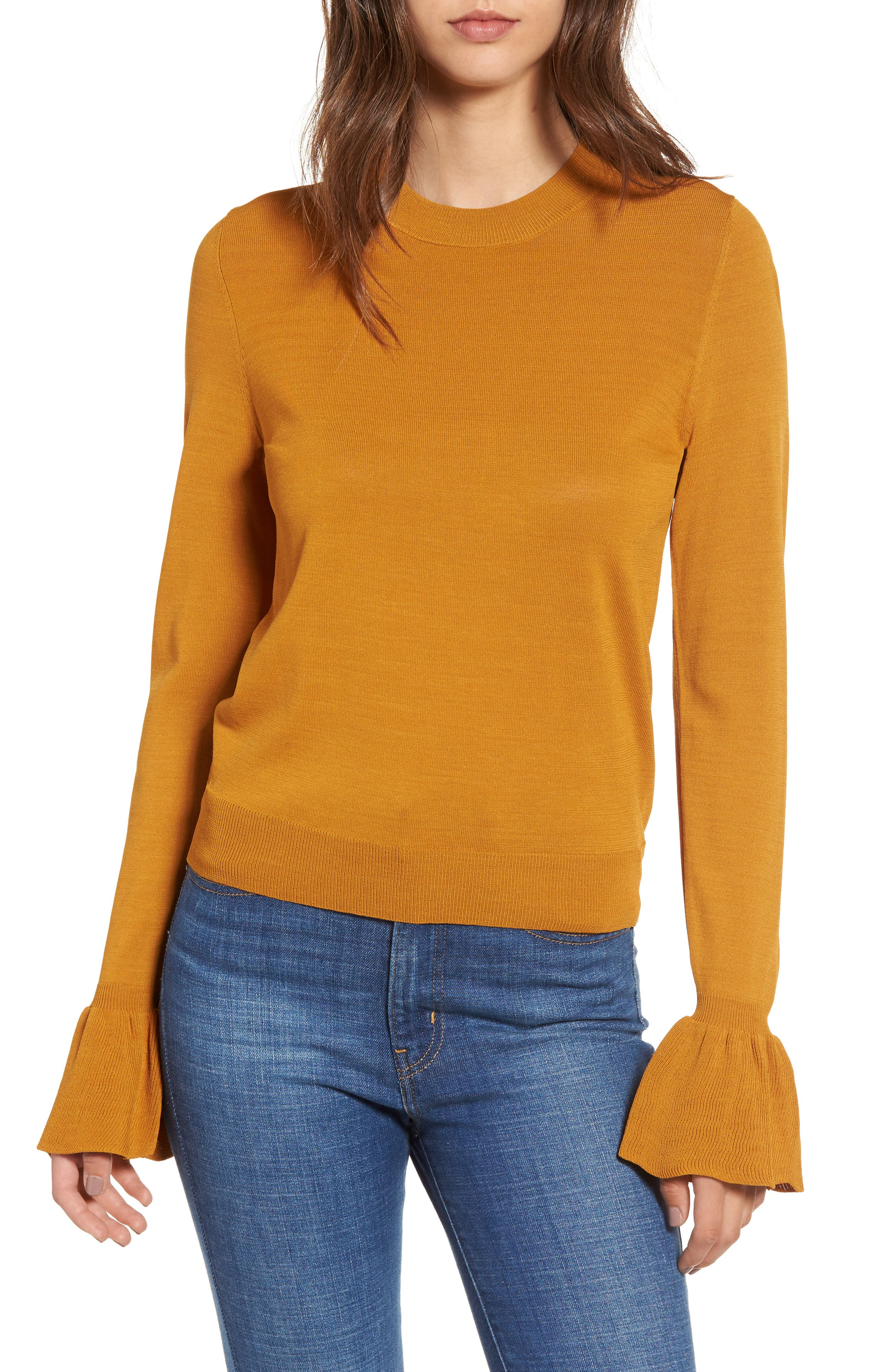 Flare Cuff Sweater,                             Main thumbnail 1, color,                             230
