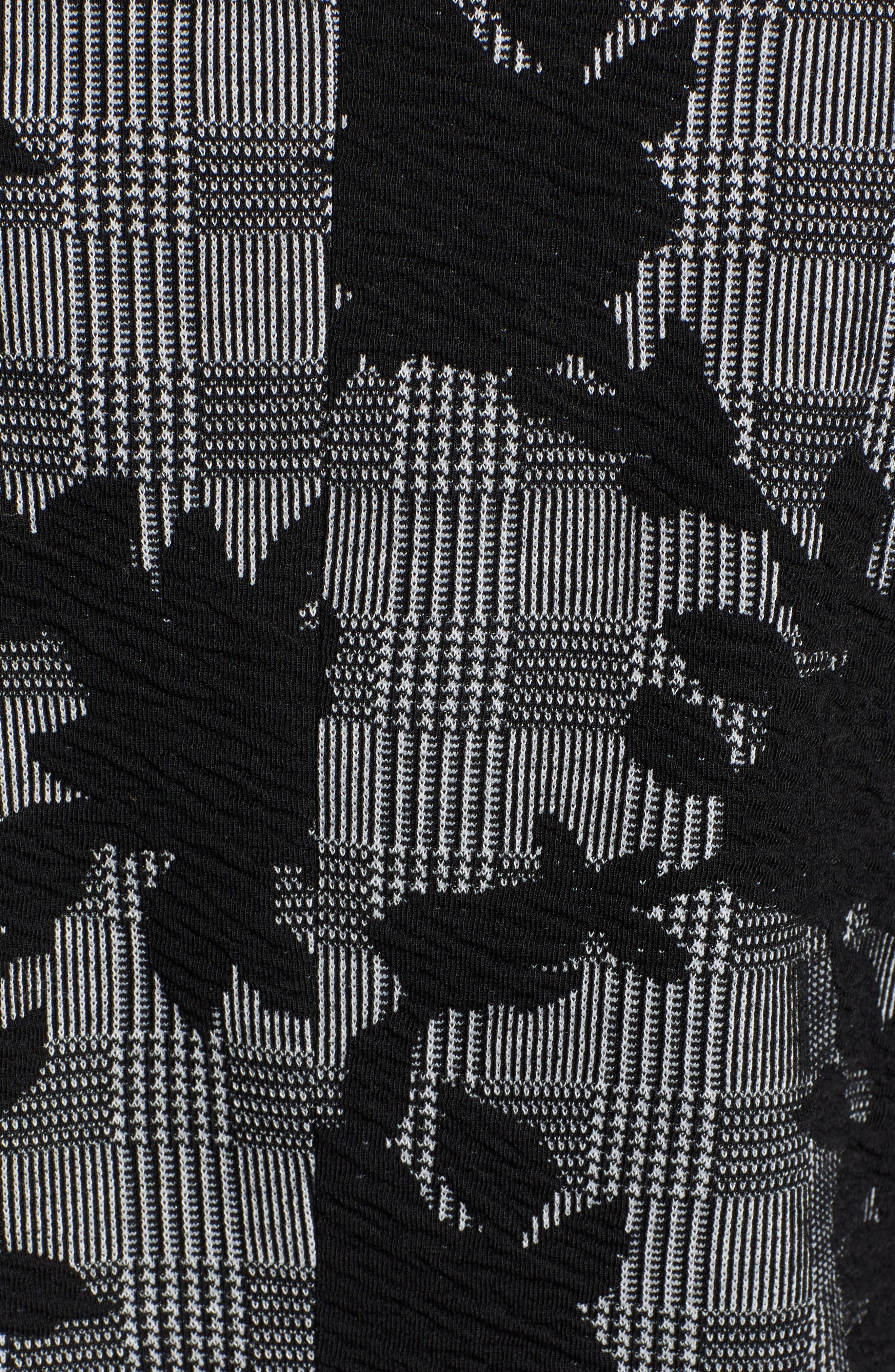 Floral Plaid Jacket,                             Alternate thumbnail 7, color,                             BLACK/ GREY
