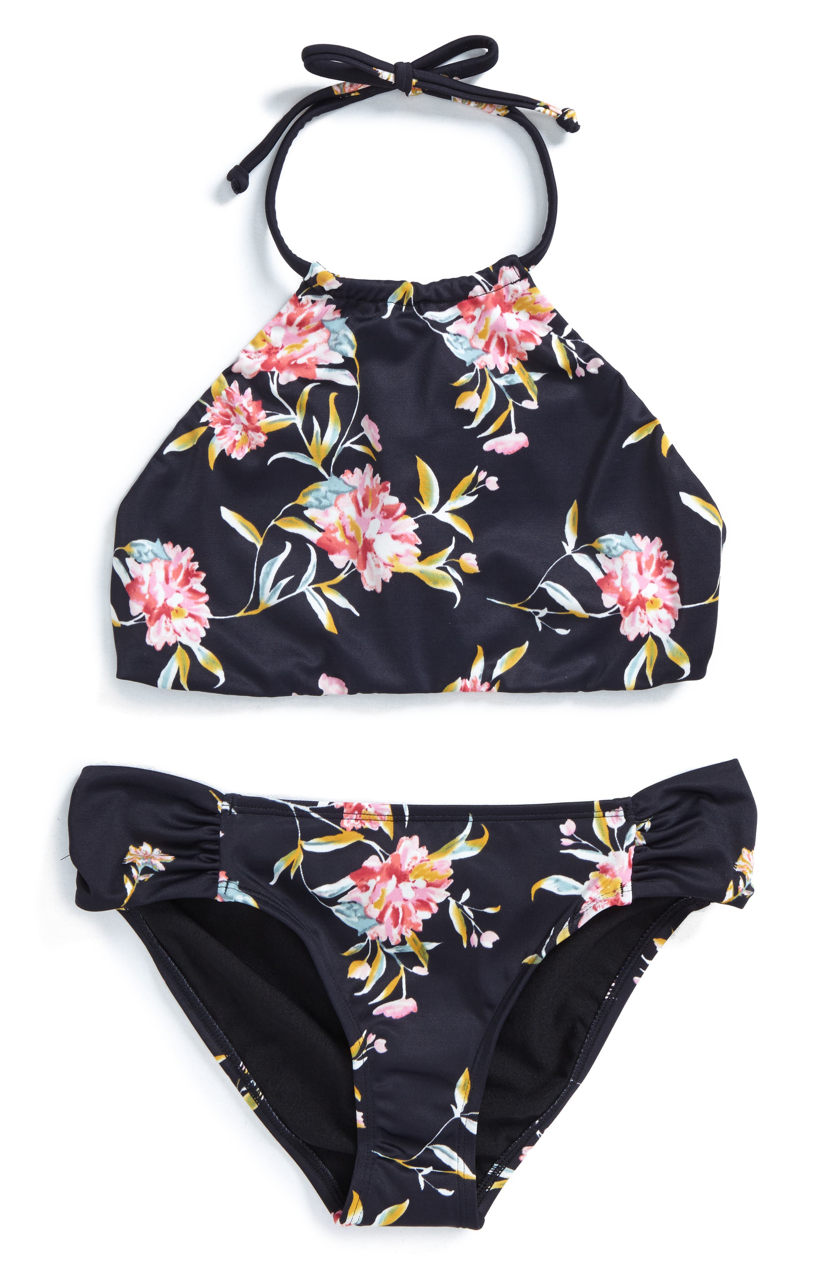 Via Rosa Two-Piece Halter Swimsuit,                         Main,                         color, 007