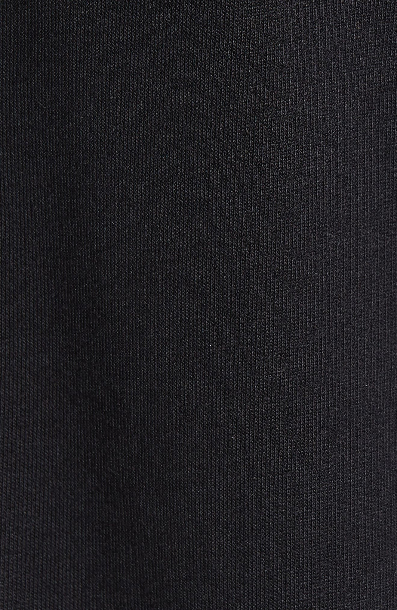 Reily Deep V-Neck Cotton Blend Tee,                             Alternate thumbnail 5, color,                             BLACK