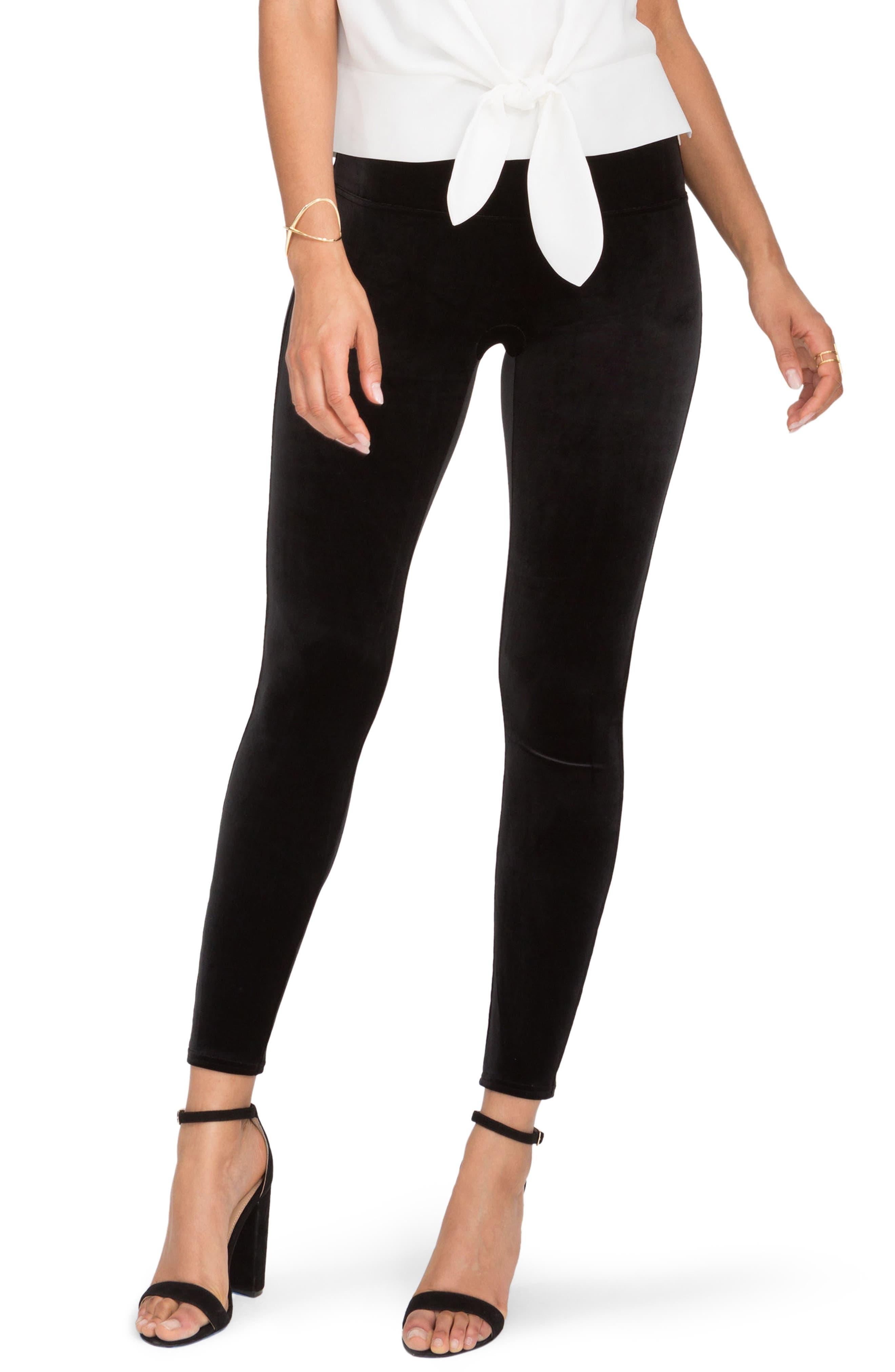 Velvet Leggings,                         Main,                         color, VERY BLACK