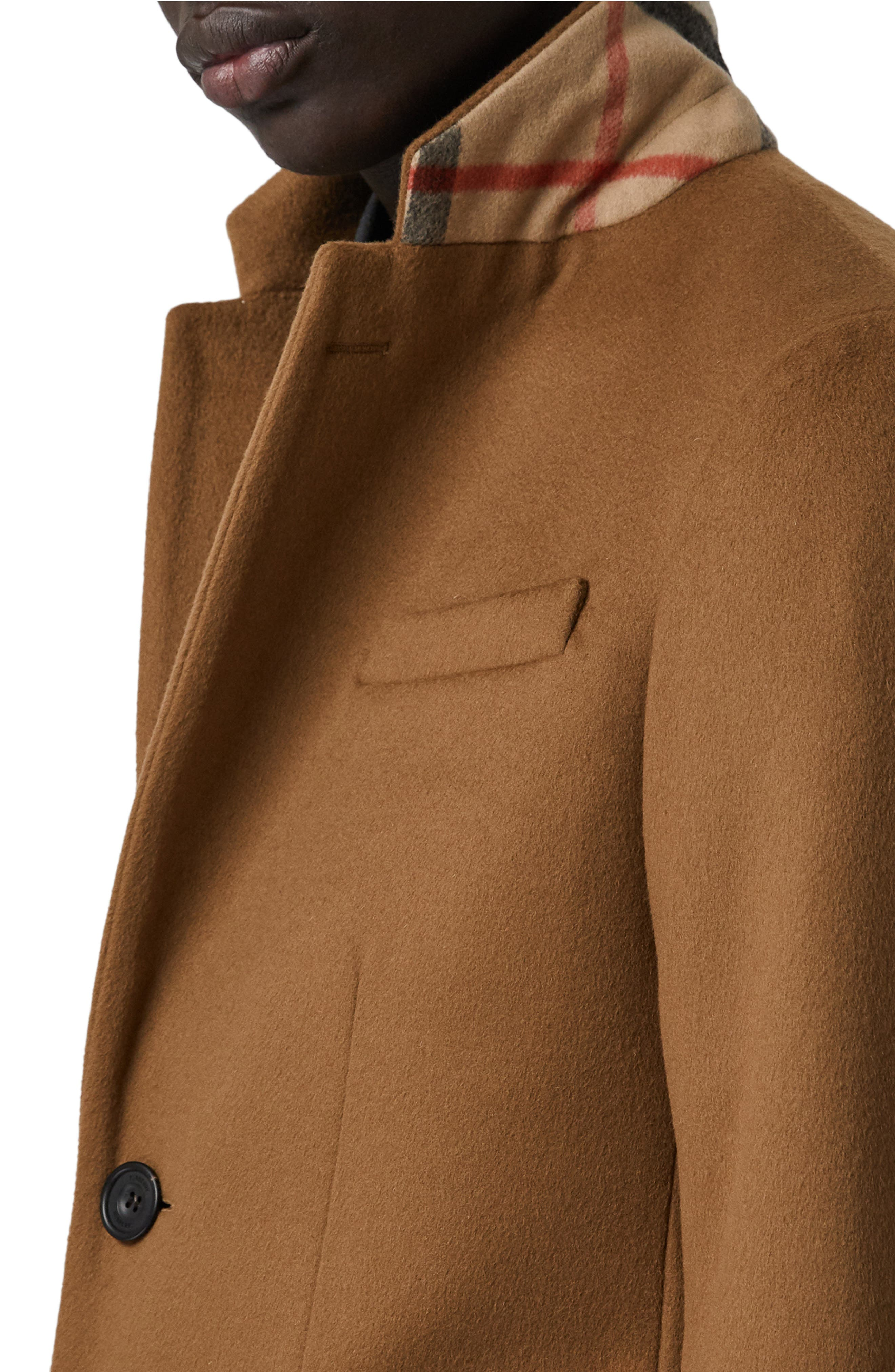 Halesowen Wool and Cashmere Overcoat,                             Alternate thumbnail 4, color,                             DARK CAMEL