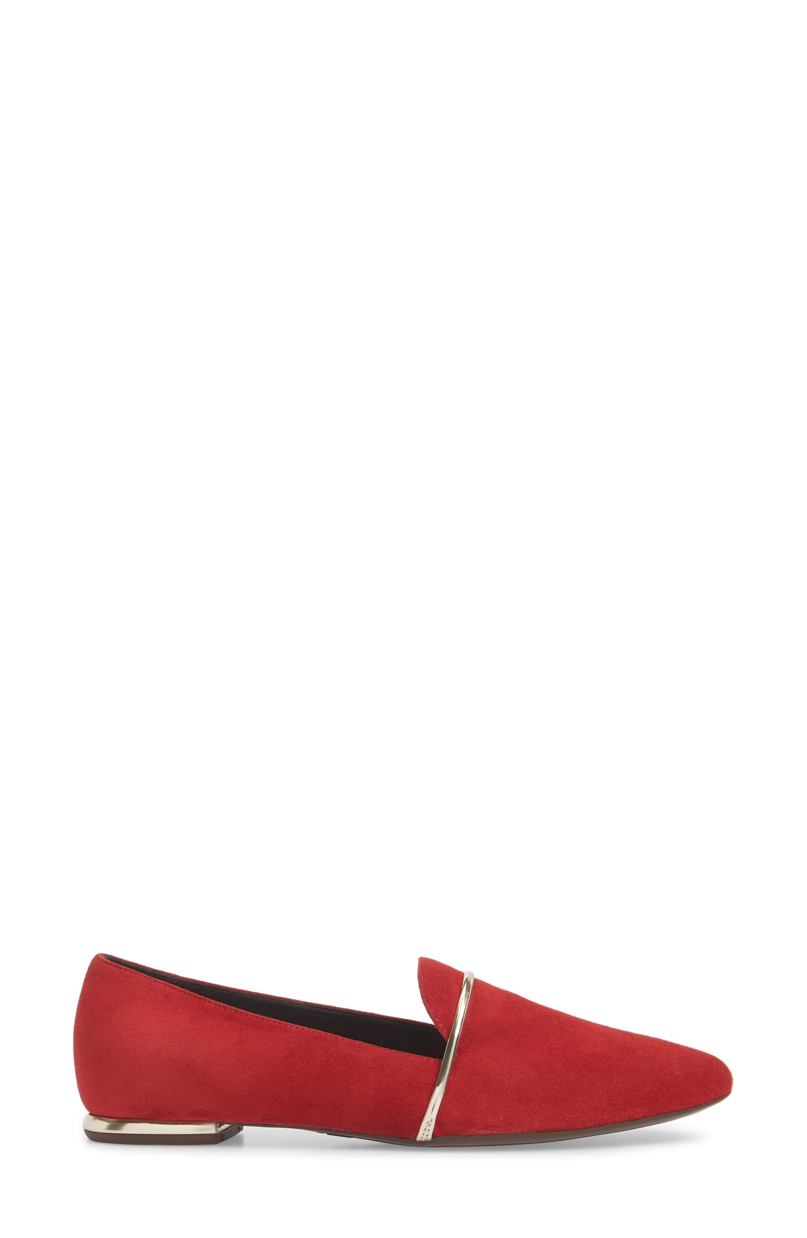 Smoking Slipper,                             Alternate thumbnail 3, color,                             RED SUEDE