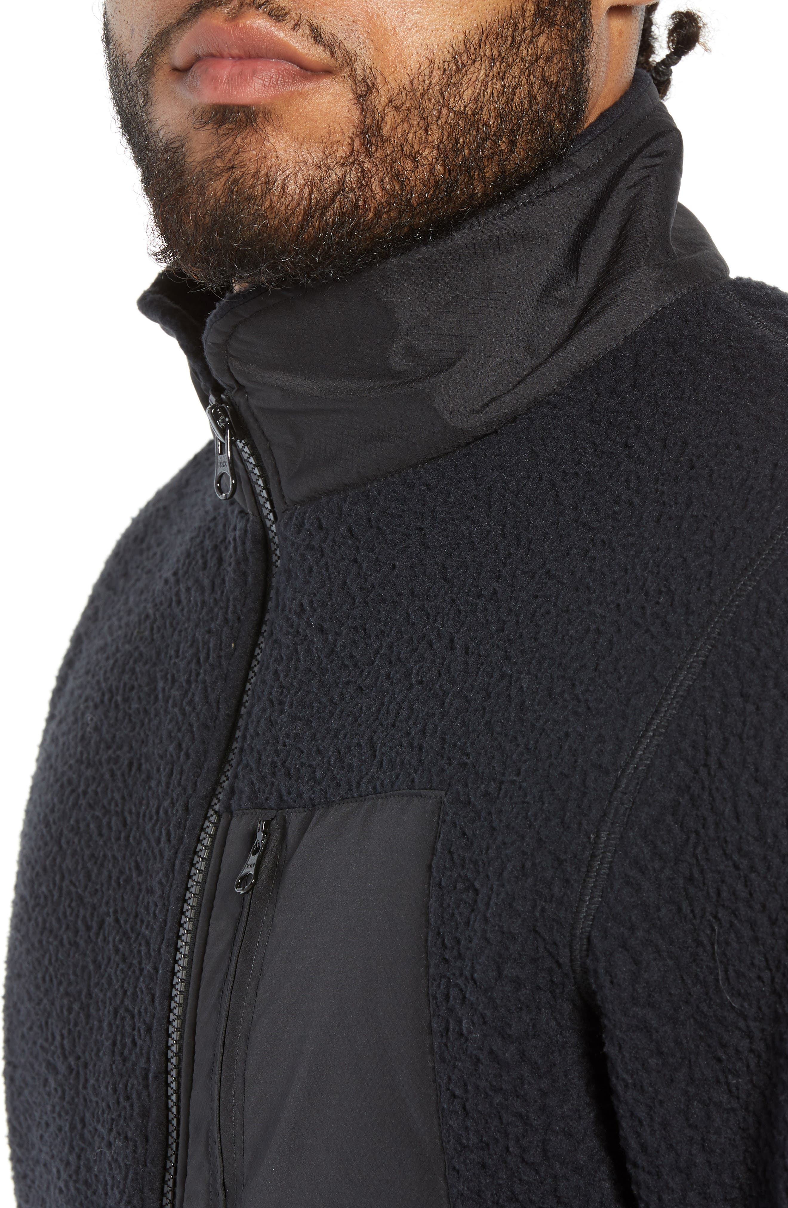 HERSCHEL SUPPLY CO.,                             Tech Fleece Jacket,                             Alternate thumbnail 4, color,                             001