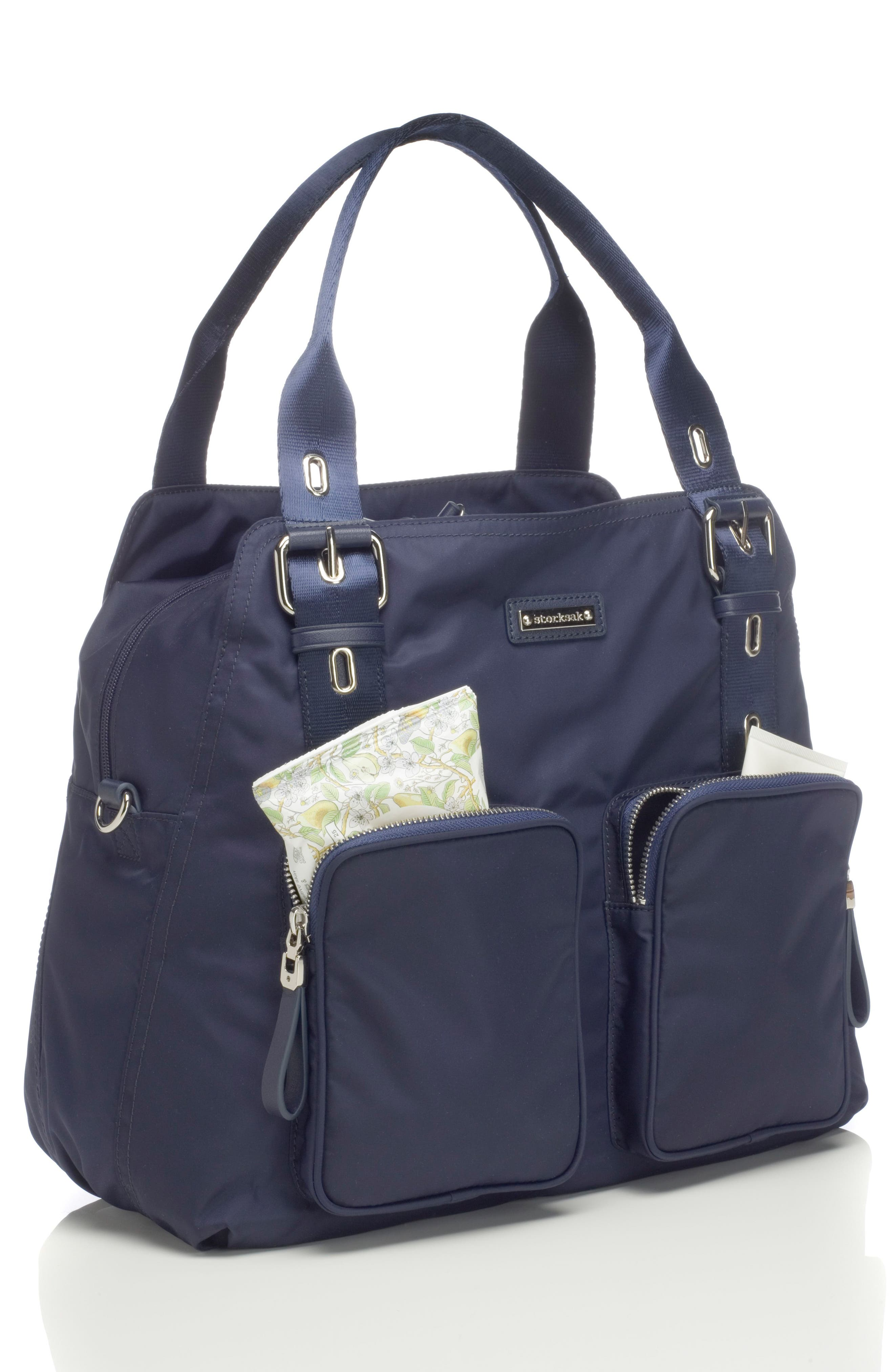 Storsak Alexa Diaper Bag,                             Alternate thumbnail 4, color,                             NAVY