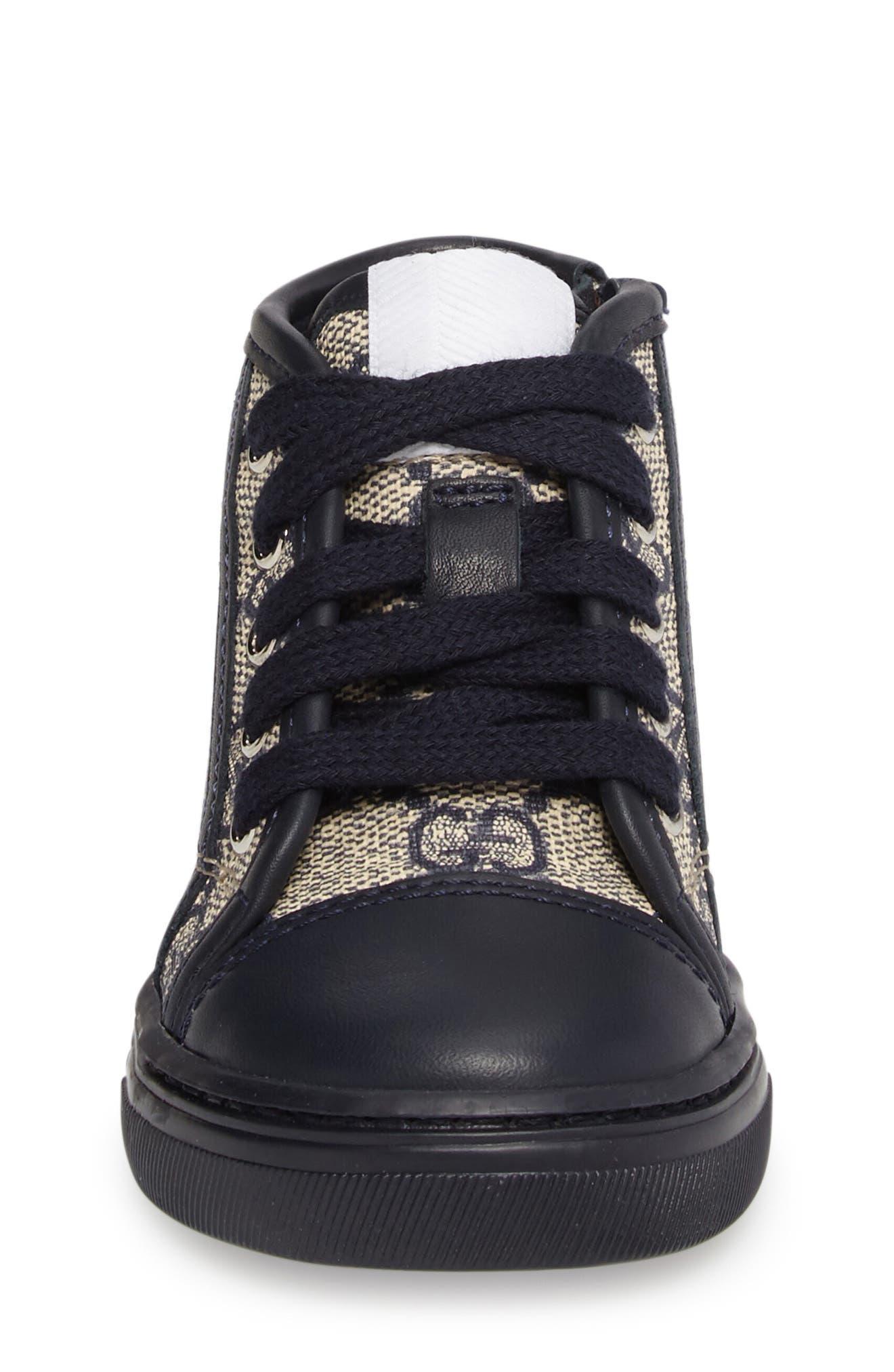 GUCCI,                             GG Supreme High Top Sneaker,                             Alternate thumbnail 4, color,                             417