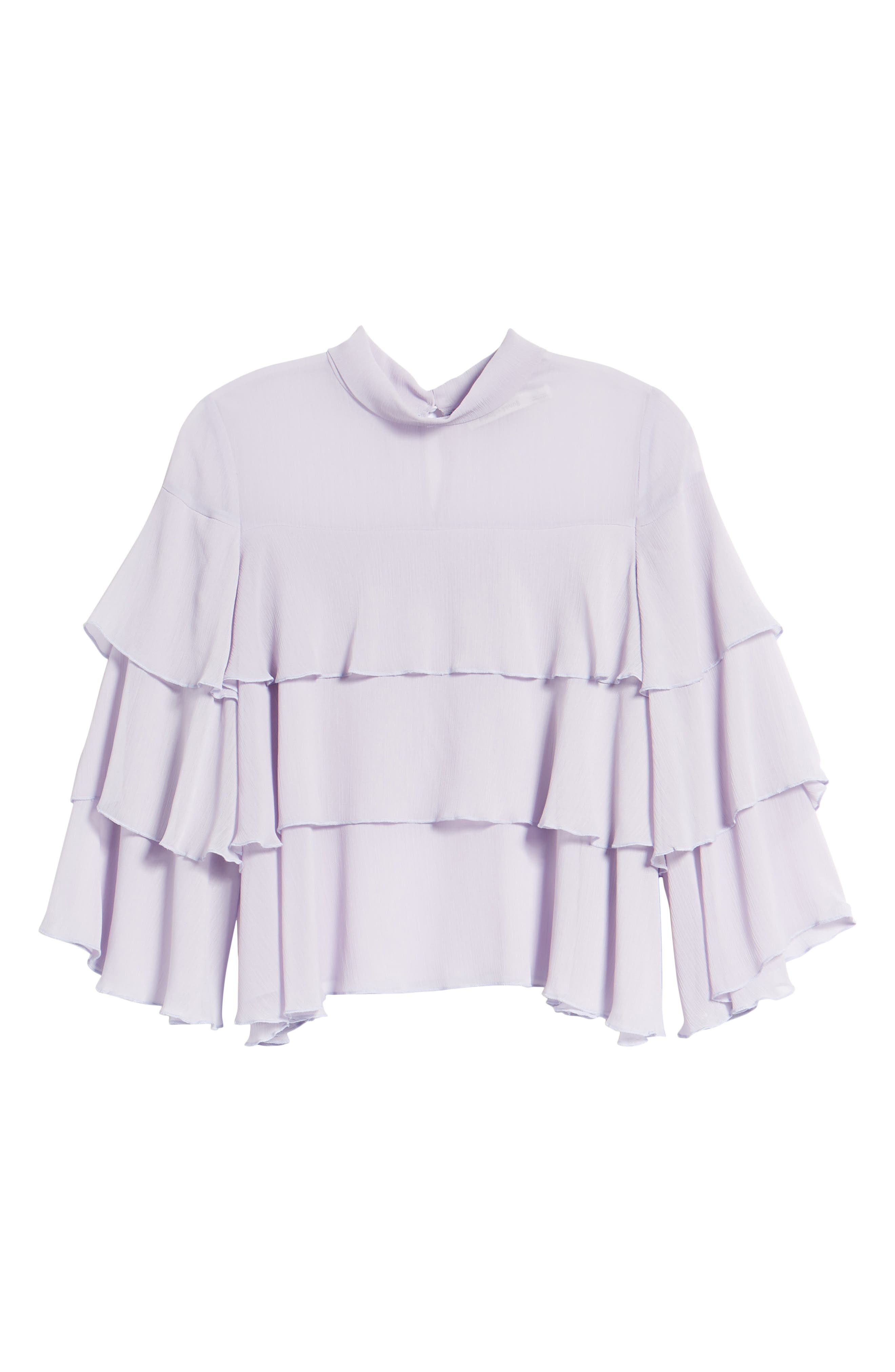 Bishop + Young Tiered Ruffle Blouse,                             Alternate thumbnail 7, color,                             LILAC