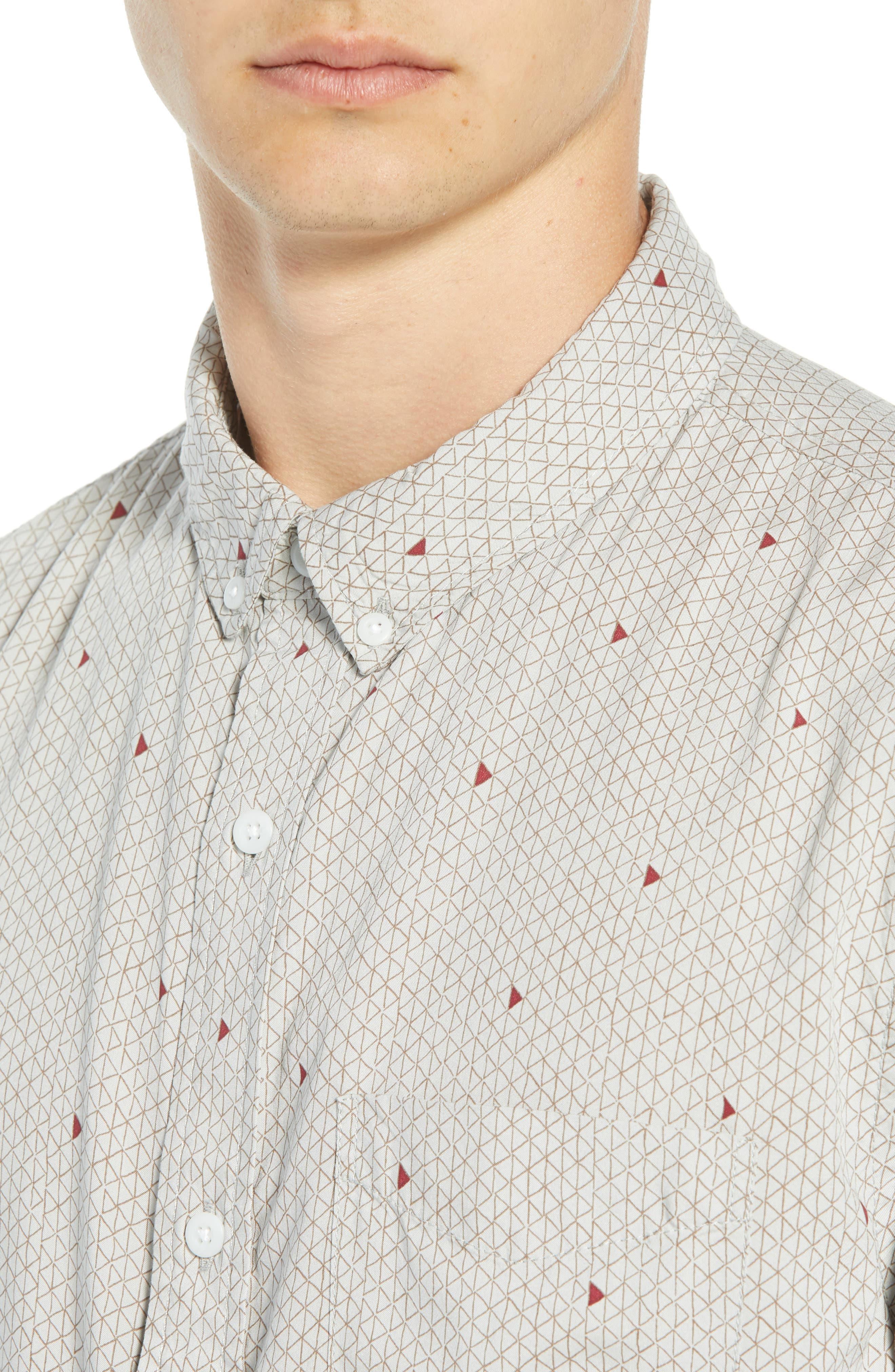 THE RAIL,                             Woven Print Shirt,                             Alternate thumbnail 4, color,                             050
