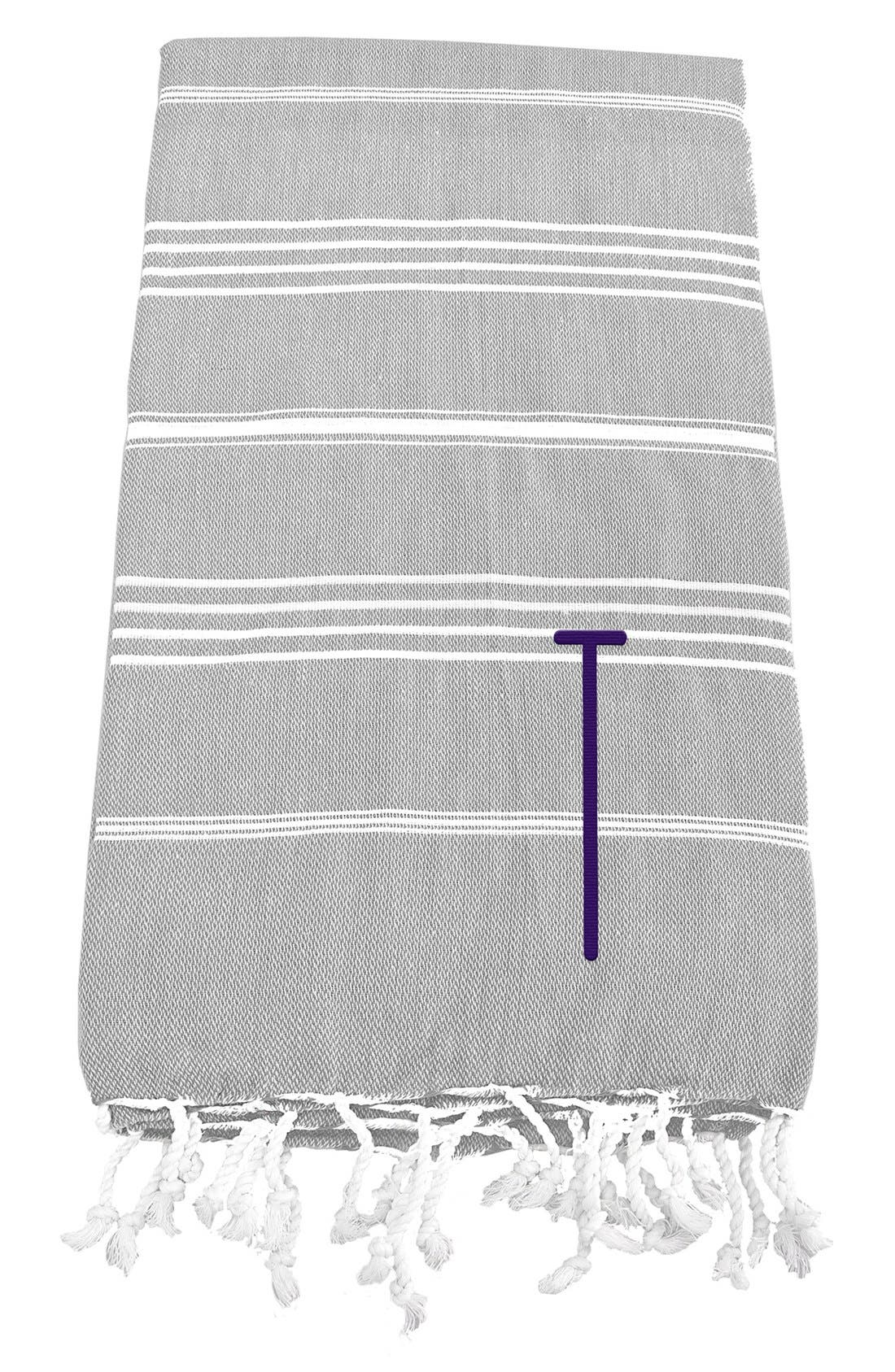 Monogram Turkish Cotton Towel,                             Main thumbnail 22, color,