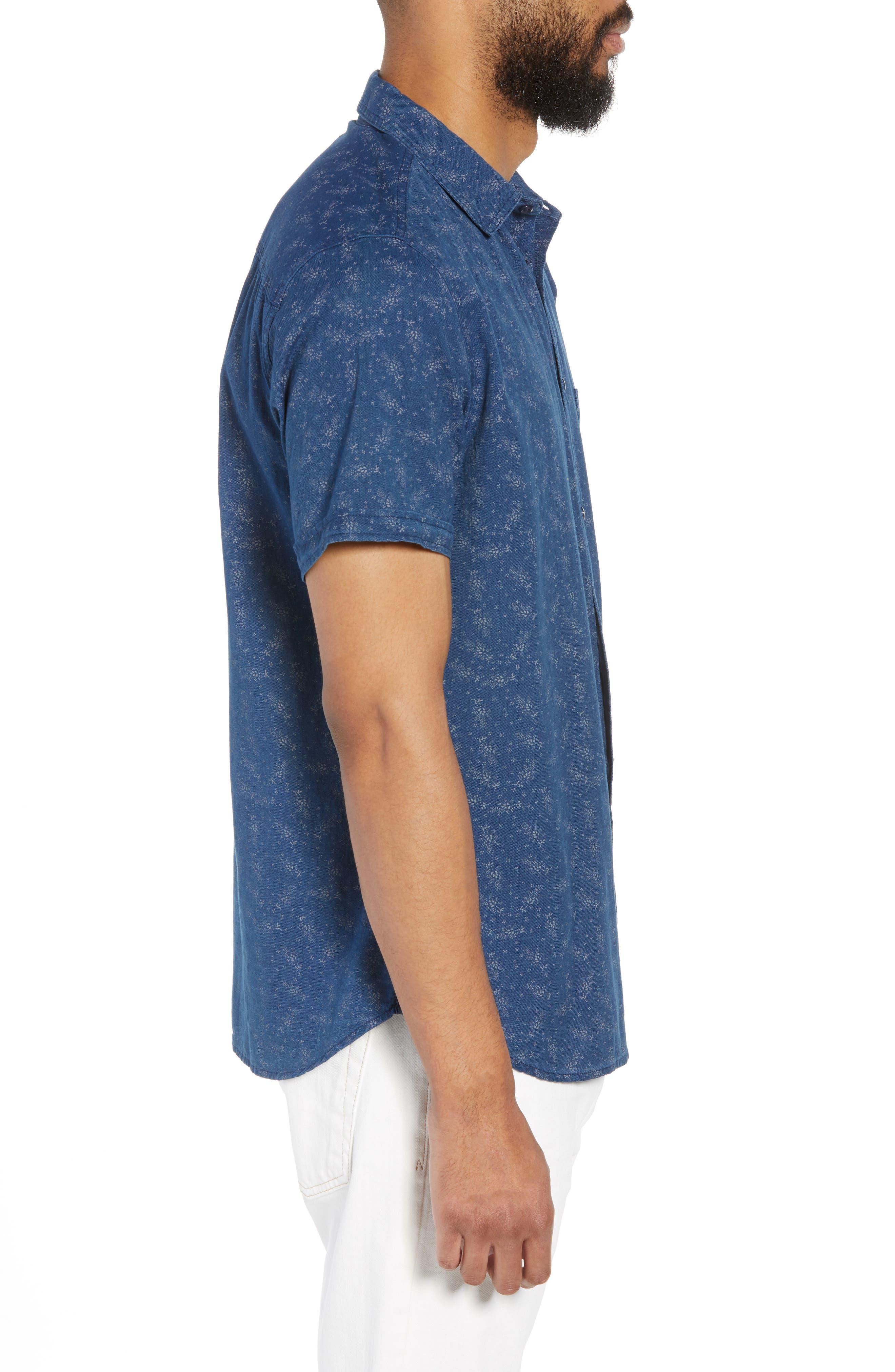 Carson Regular Fit Floral Print Sport Shirt,                             Alternate thumbnail 4, color,                             BISBEE PRINT