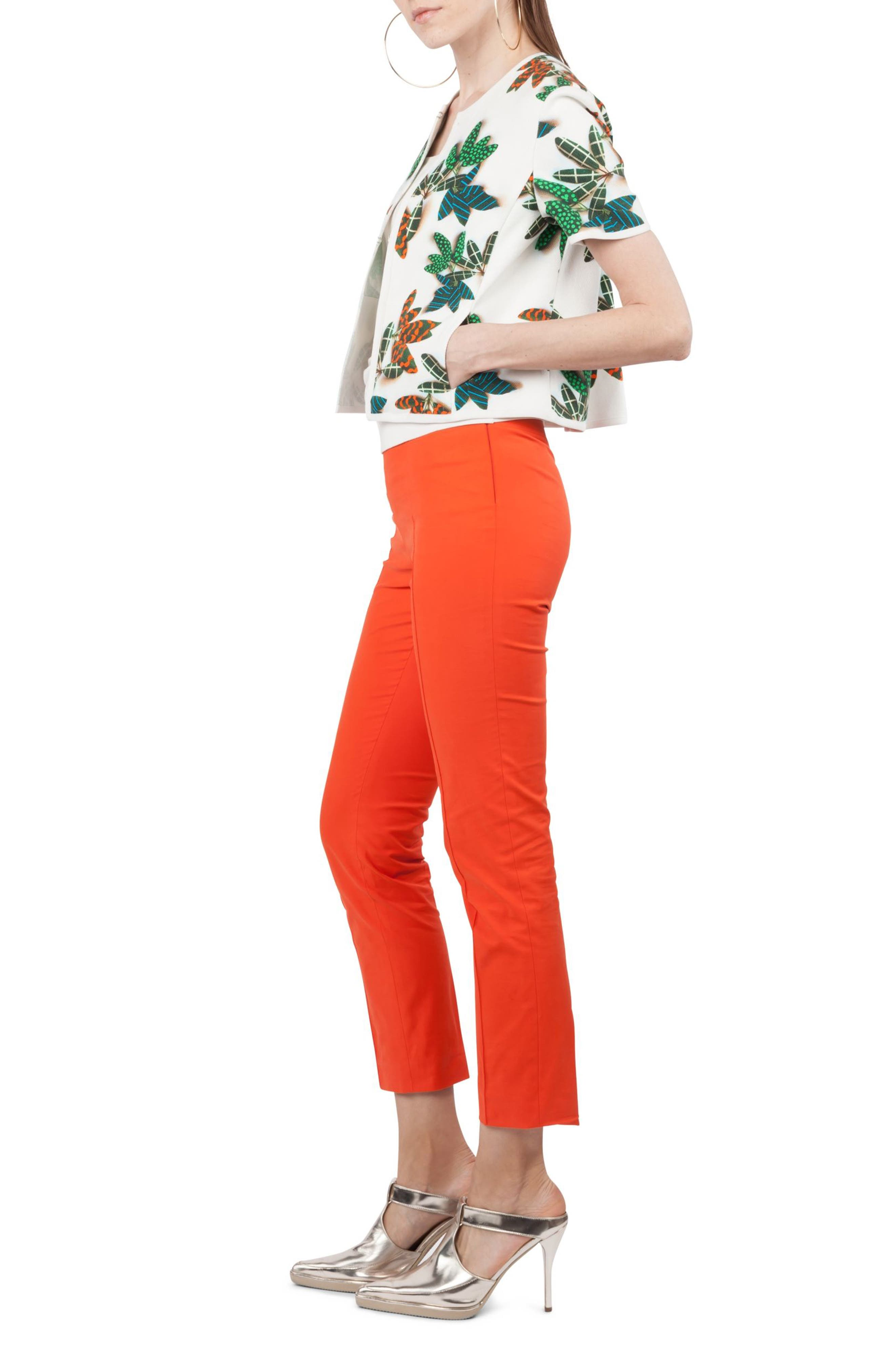 Franca Stretch Cotton Pants,                             Alternate thumbnail 3, color,                             862