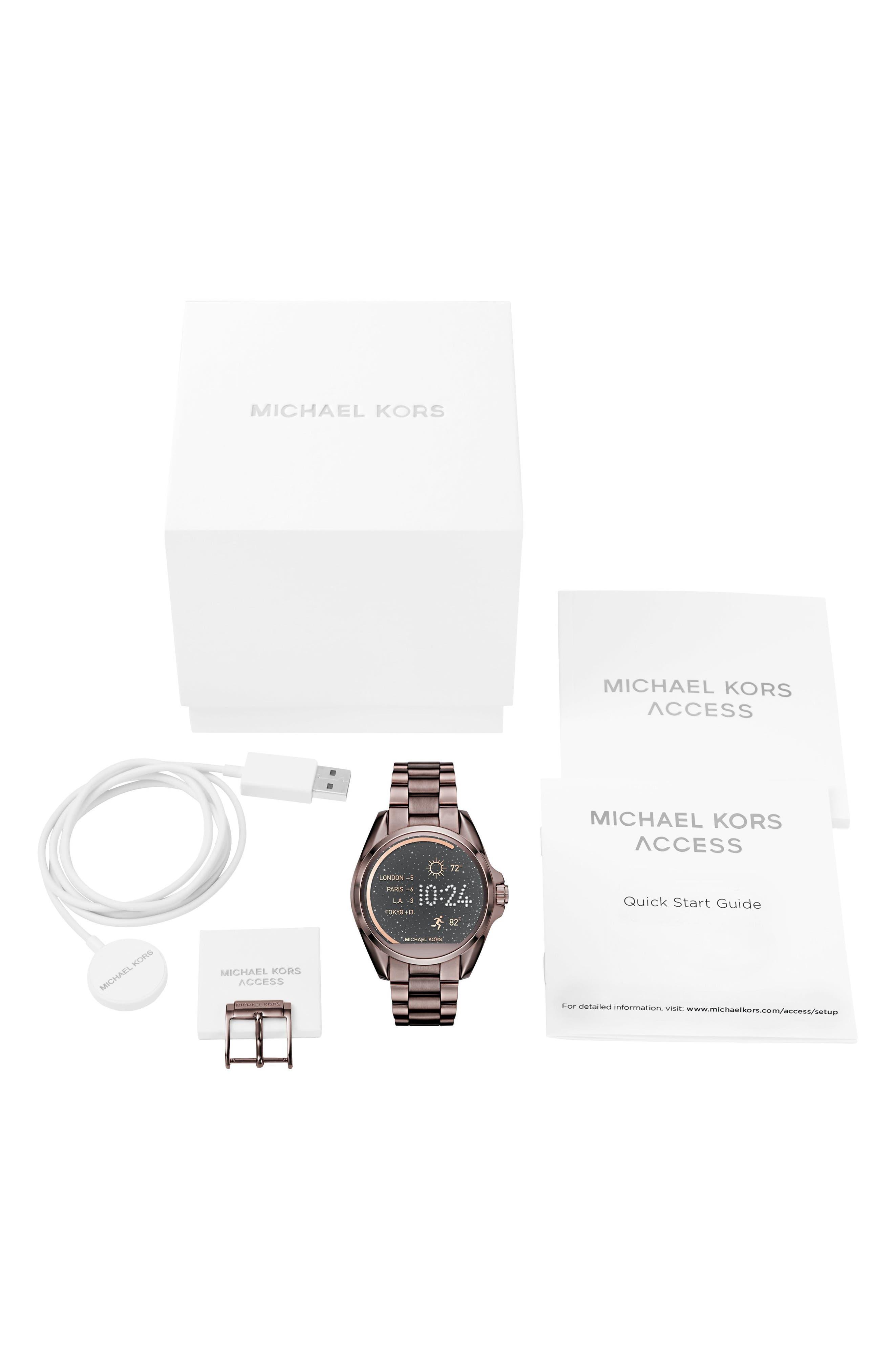 MICHAEL Michael Kors Bradshaw Access Bracelet Smart Watch, 45mm,                             Alternate thumbnail 58, color,