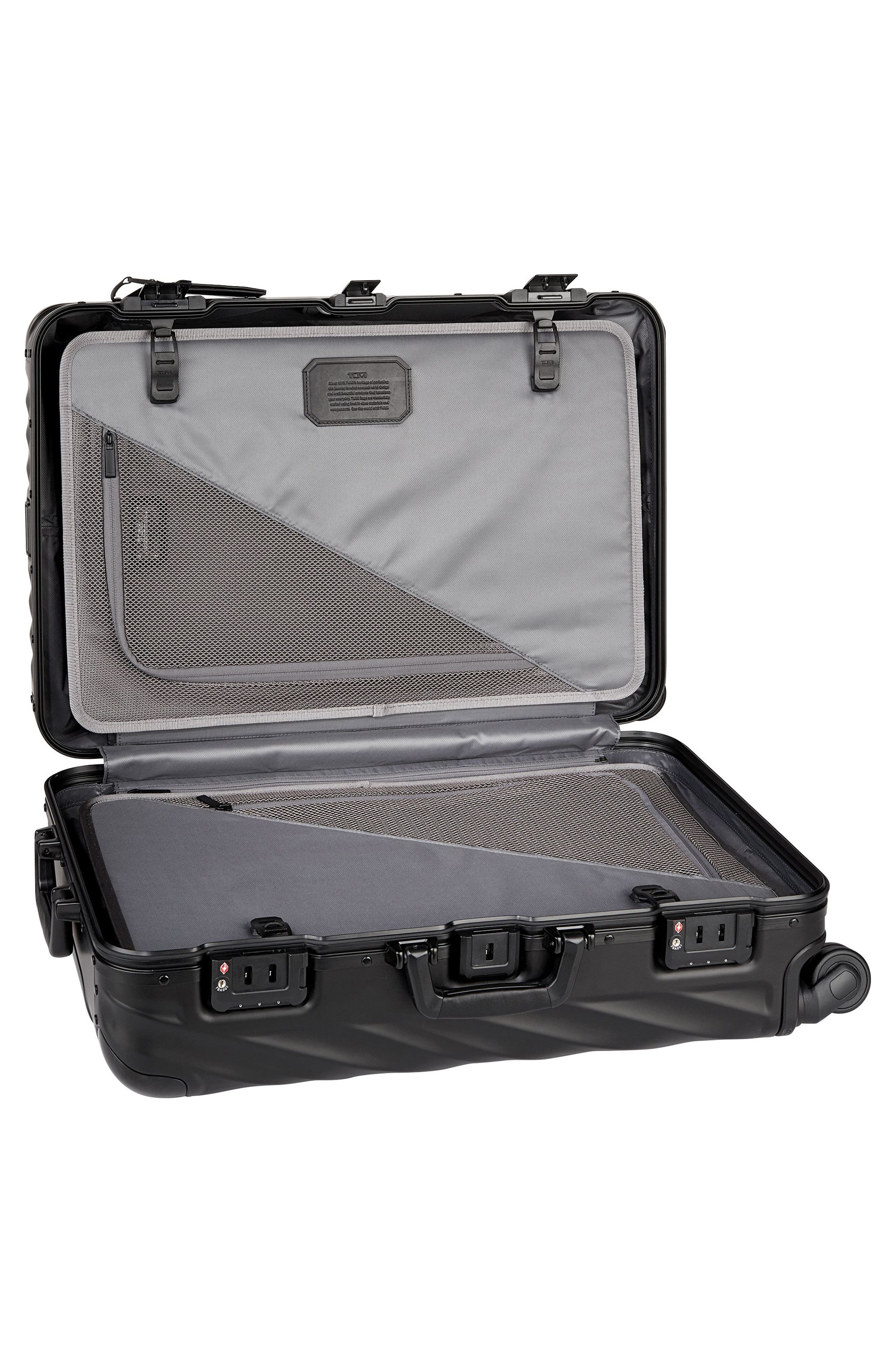19-Degree Collection 26-Inch Wheeled Aluminum Short Trip Packing Case,                             Alternate thumbnail 2, color,                             MATTE BLACK