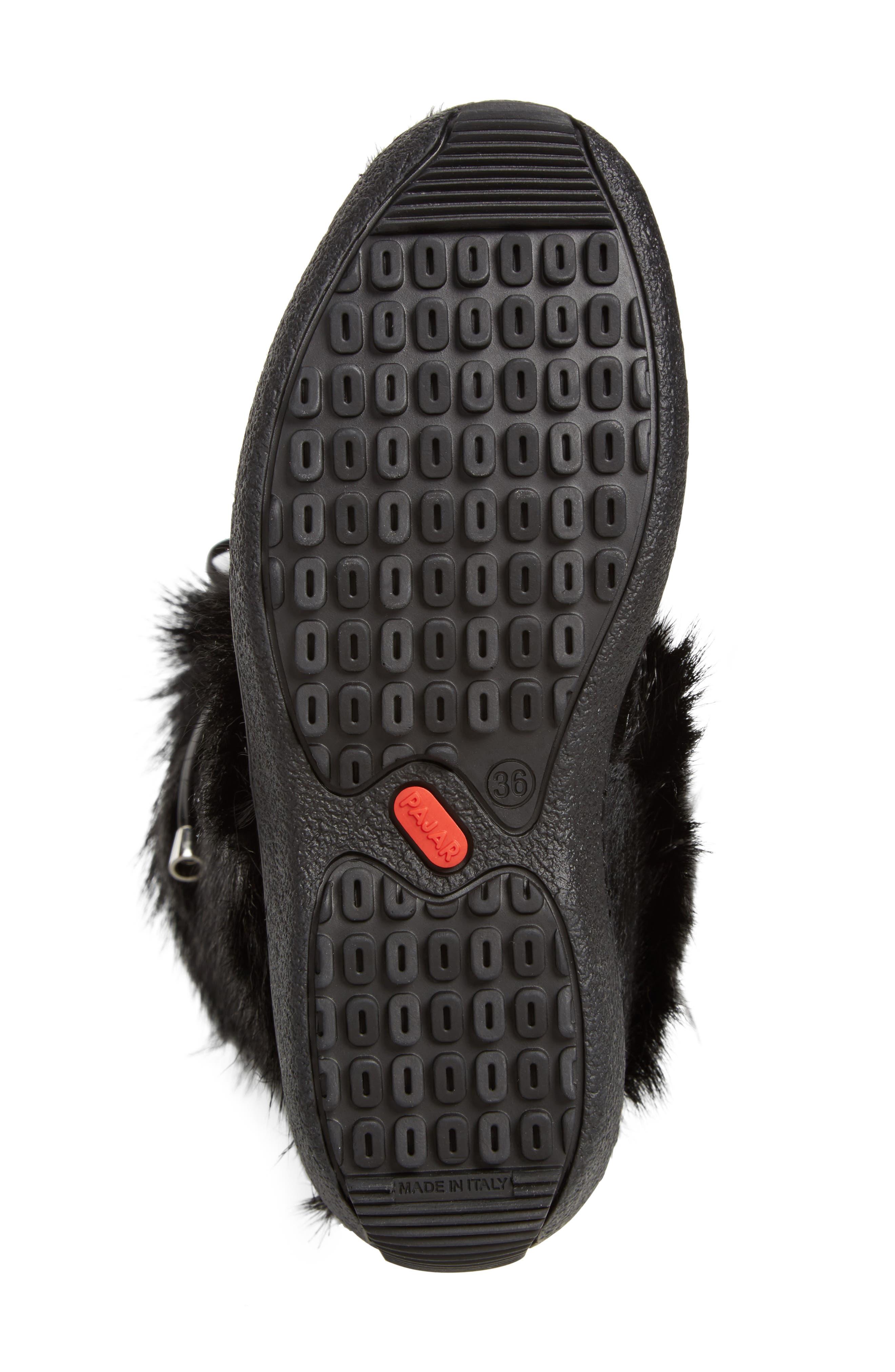 Davos Genuine Goat Fur Boot,                             Alternate thumbnail 6, color,                             001