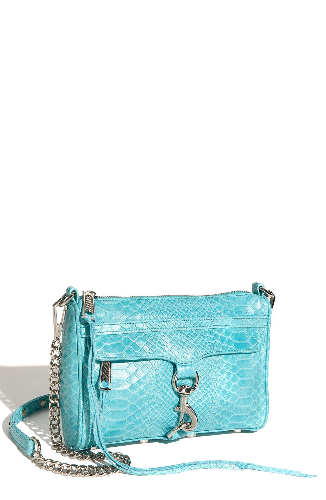 'Mini MAC' Croc Embossed Convertible Crossbody Bag,                             Main thumbnail 15, color,