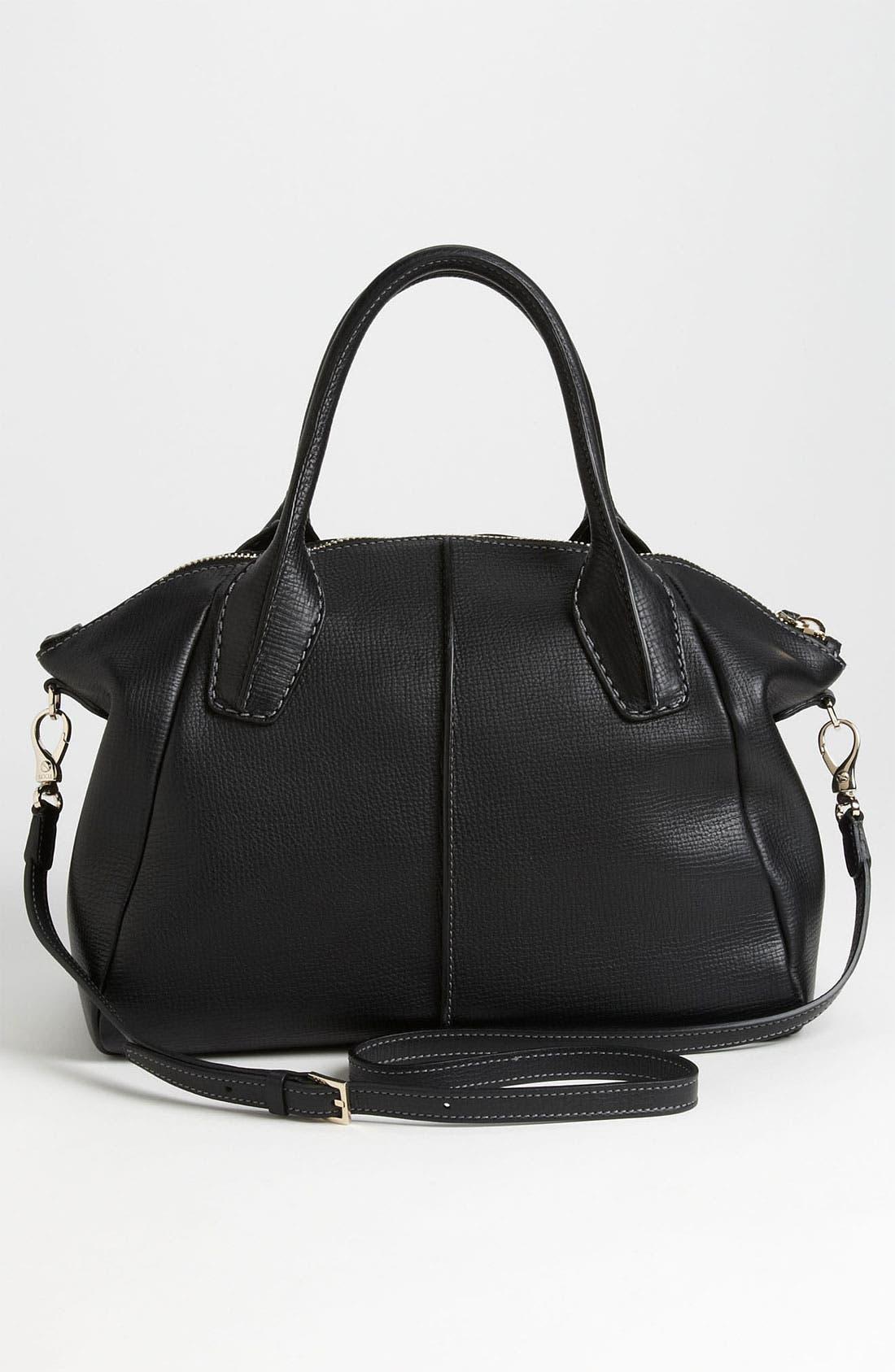 'Medium New D-Styling' Leather Shopper,                             Alternate thumbnail 4, color,                             001