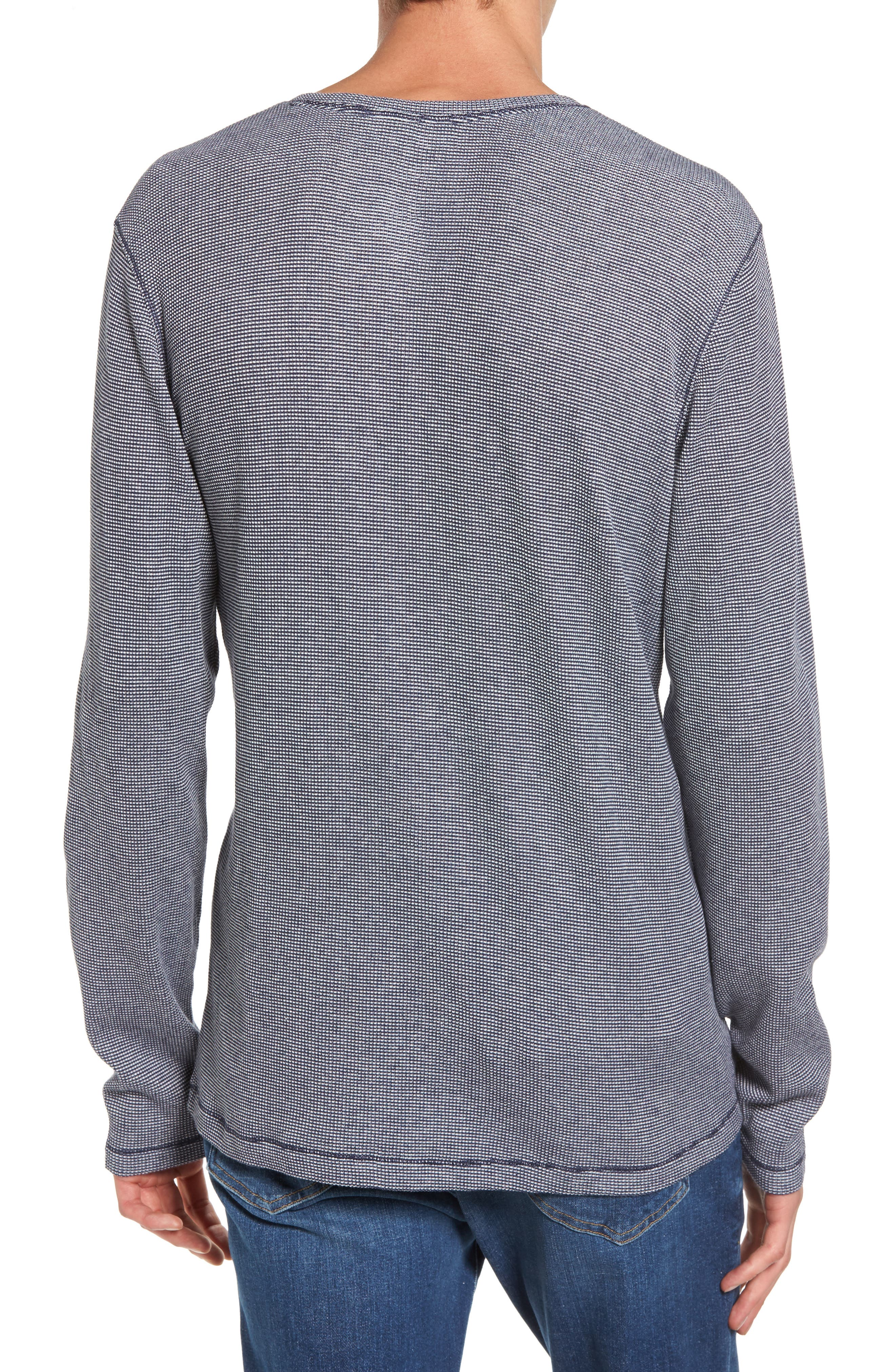 Waffle Knit Henley,                             Alternate thumbnail 3, color,