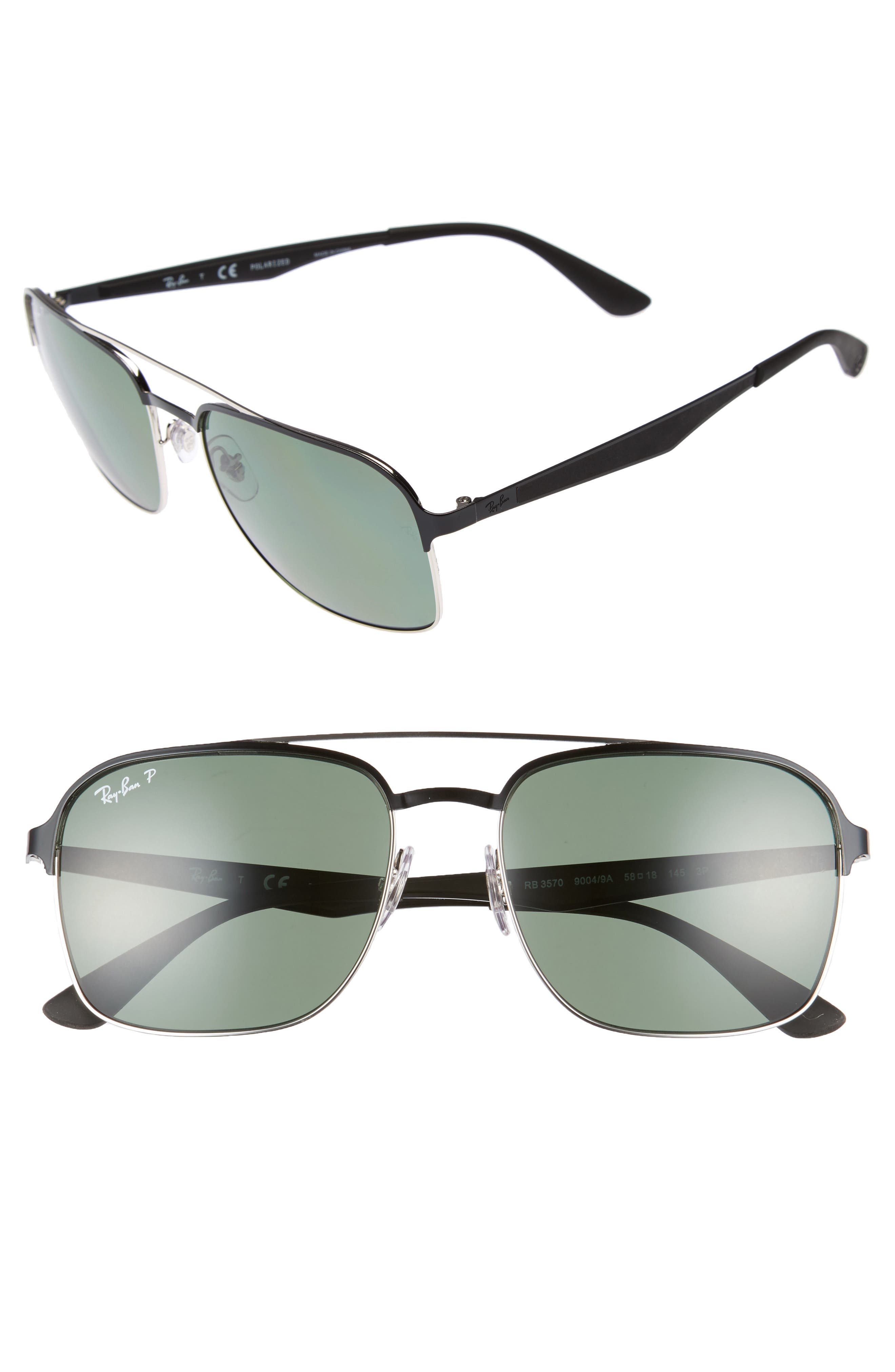 Ray-Ban 5m Polarized Sunglasses - Black Silver