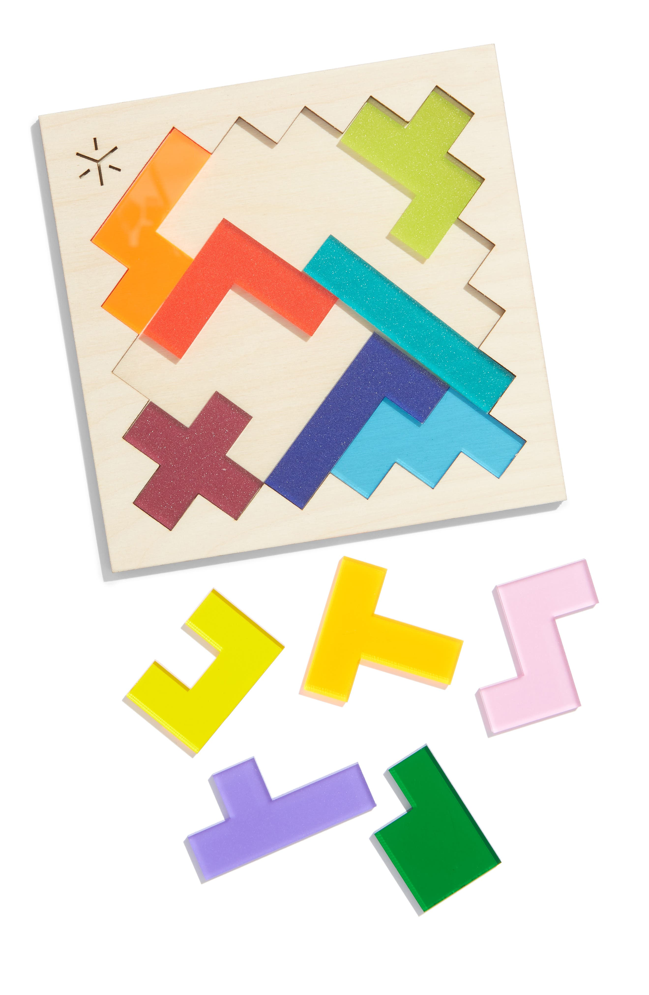 Square Pentomino Puzzle,                             Alternate thumbnail 2, color,                             RAINBOW
