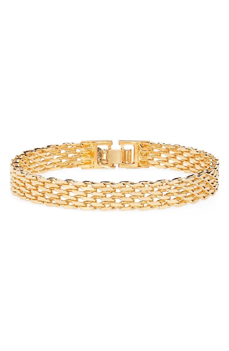 Cam Linked Bracelet In Gold