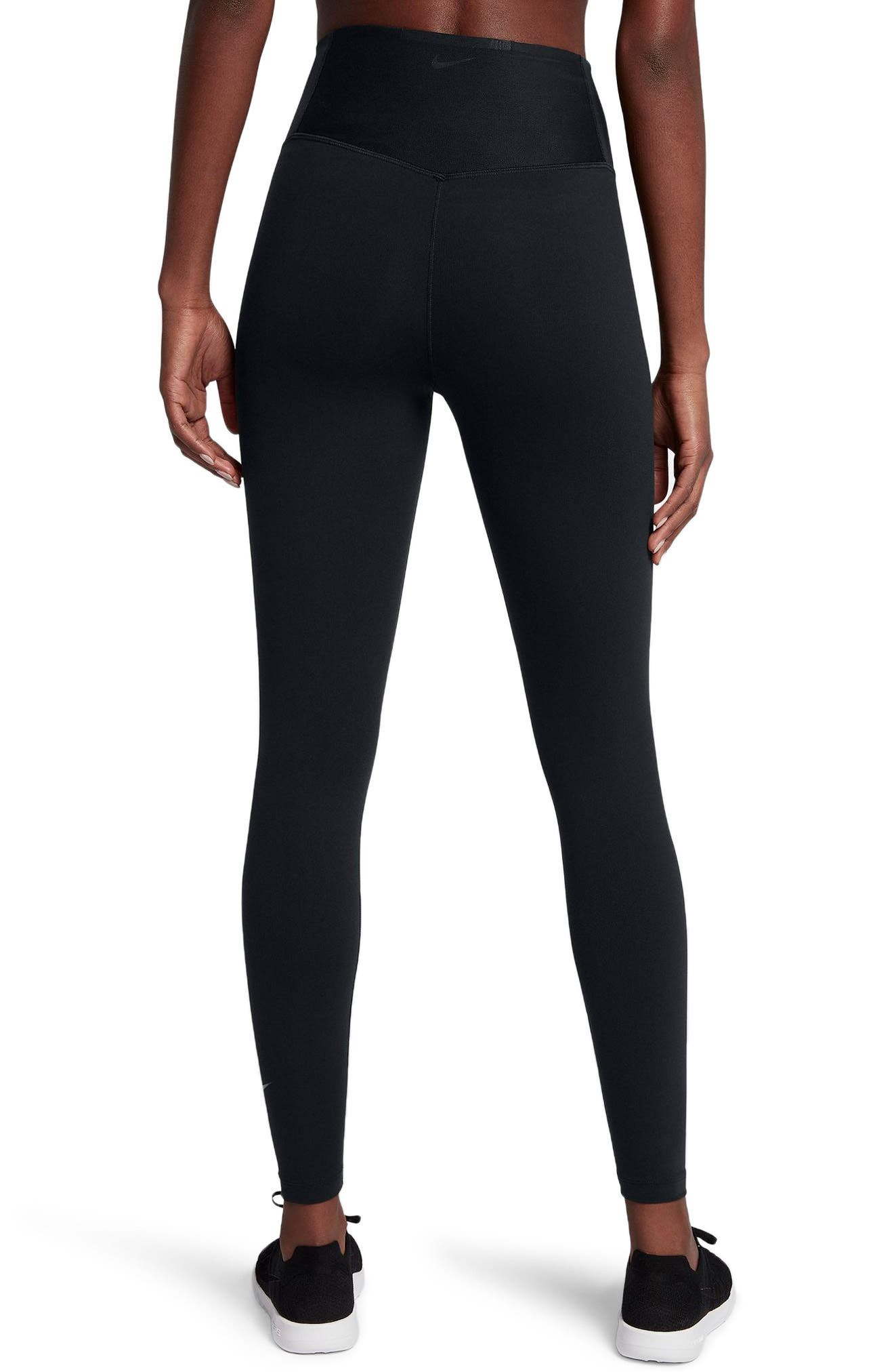 Sculpt Lux Training Tights,                             Alternate thumbnail 2, color,                             BLACK/ CLEAR