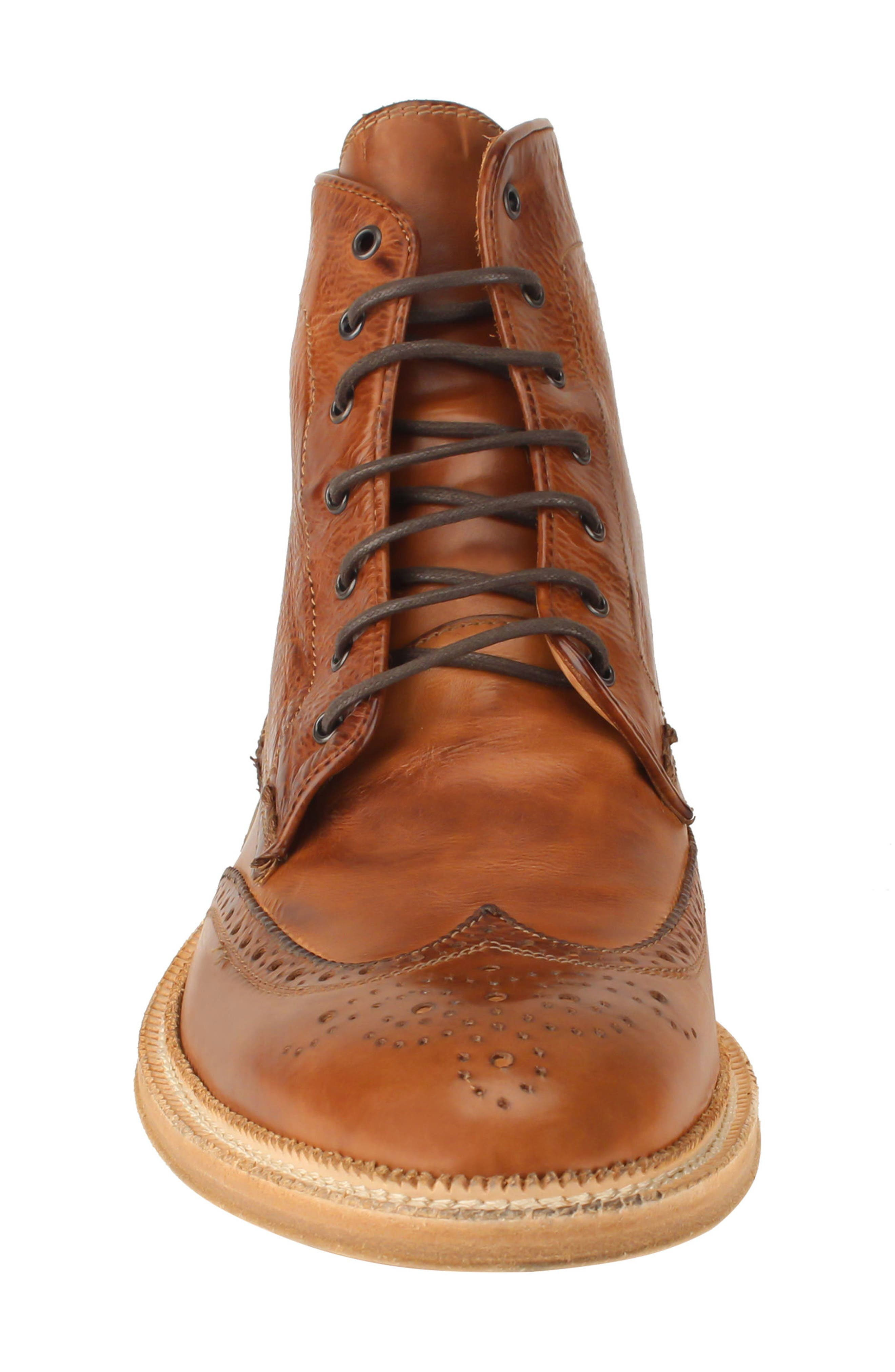 Max Wingtip Boot,                             Alternate thumbnail 4, color,                             WALNUT LEATHER