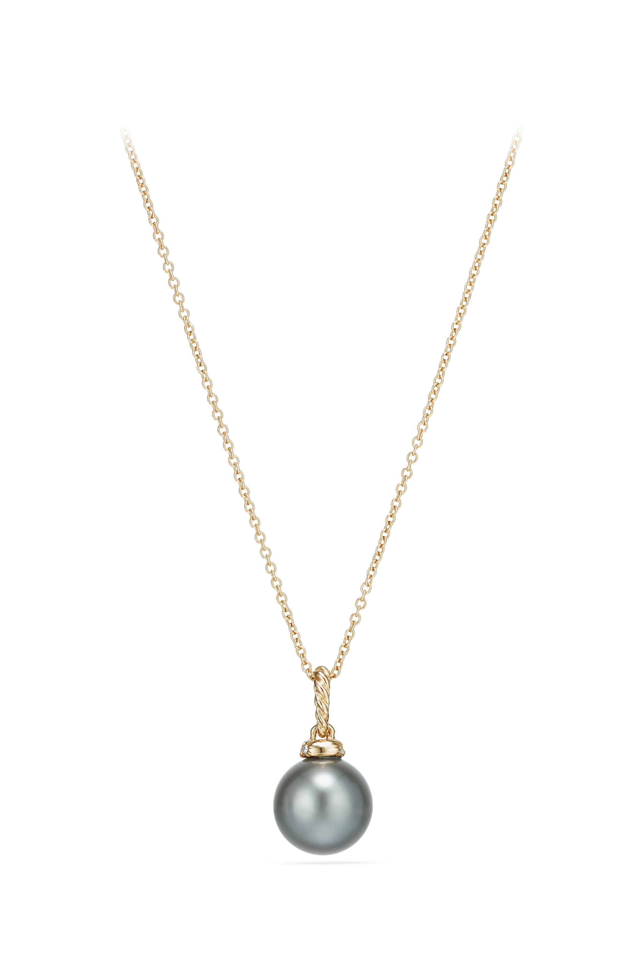 Solari Pendant Necklace with Diamonds,                             Alternate thumbnail 3, color,                             GOLD/ DIAMOND/ GREY PEARL