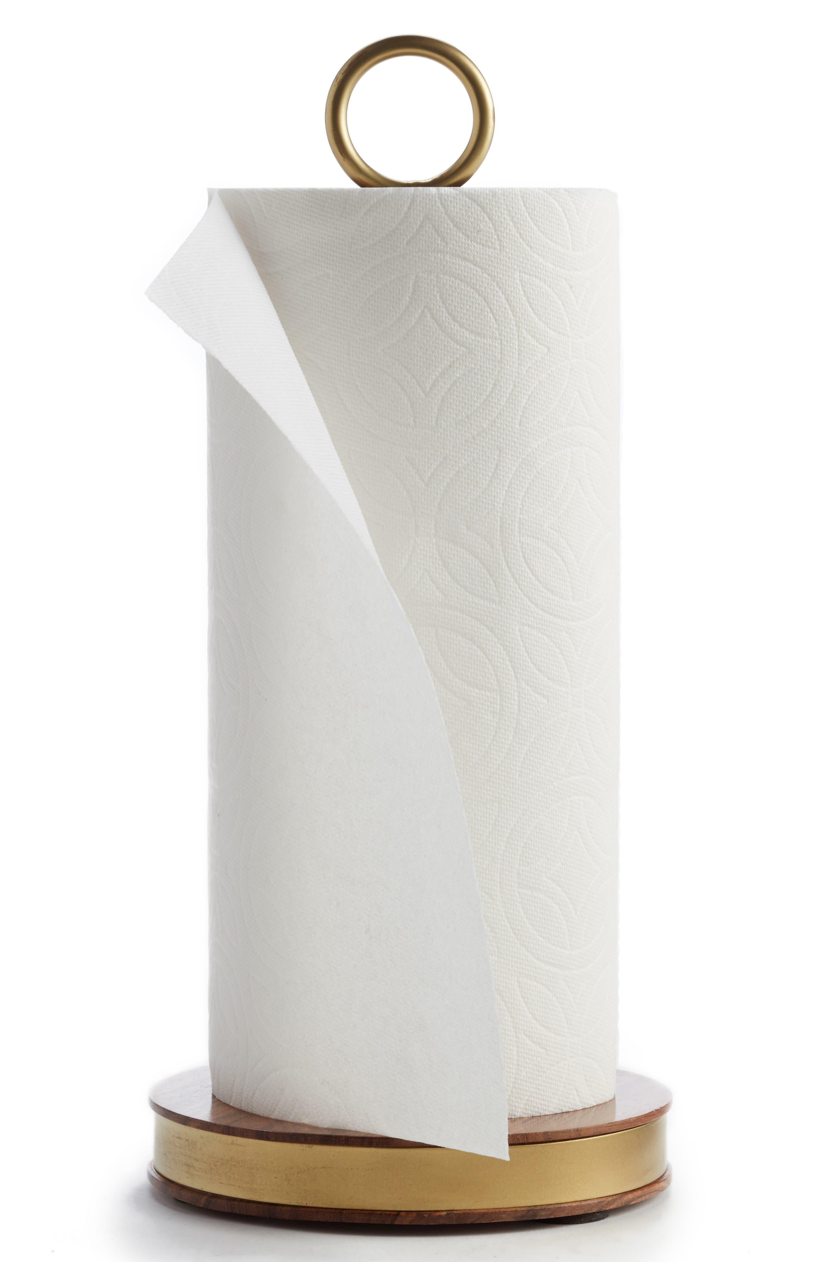 Acacia Wood Paper Towel Holder,                             Main thumbnail 1, color,                             710