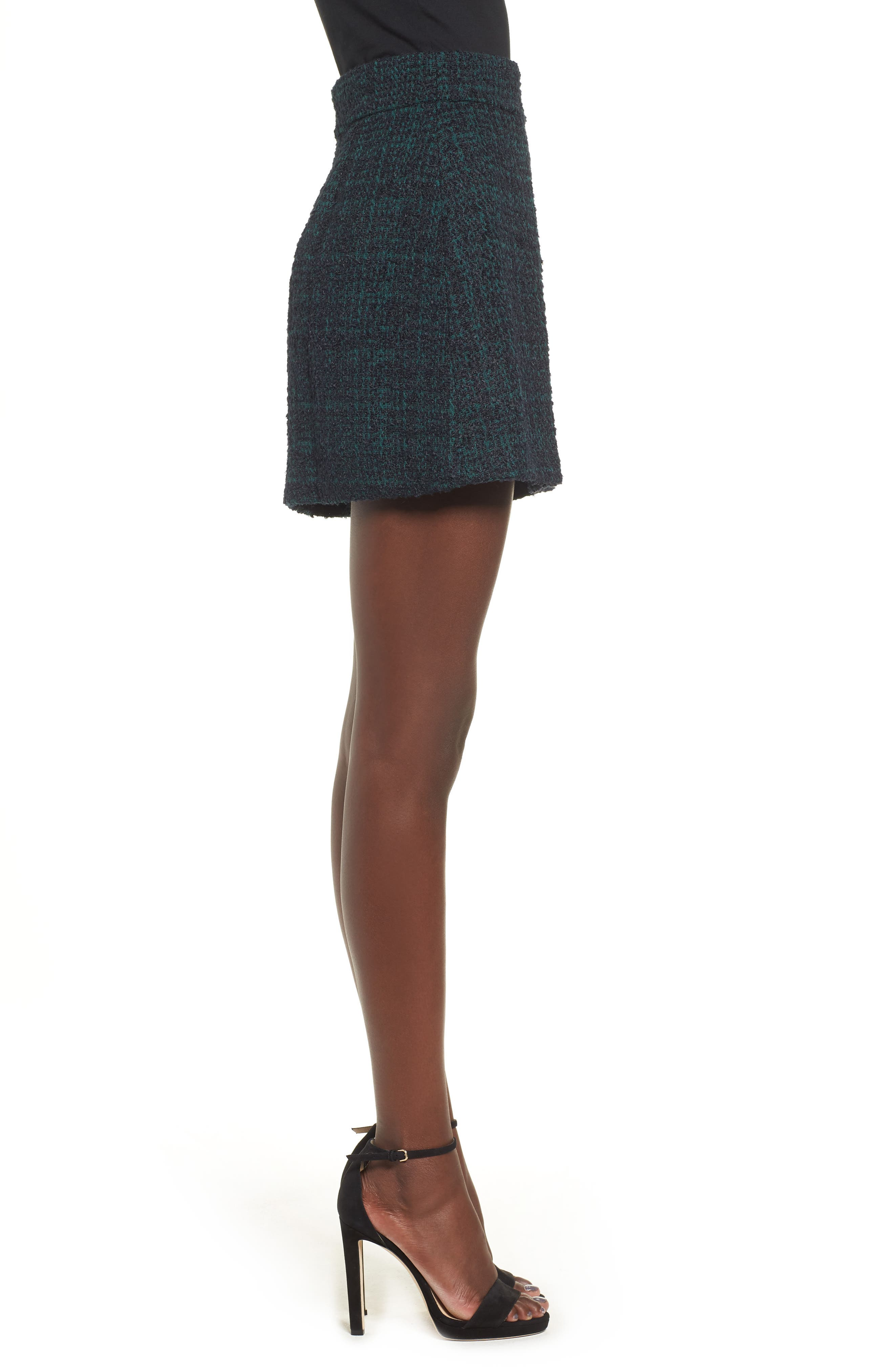 Tweed Miniskirt,                             Alternate thumbnail 3, color,                             021