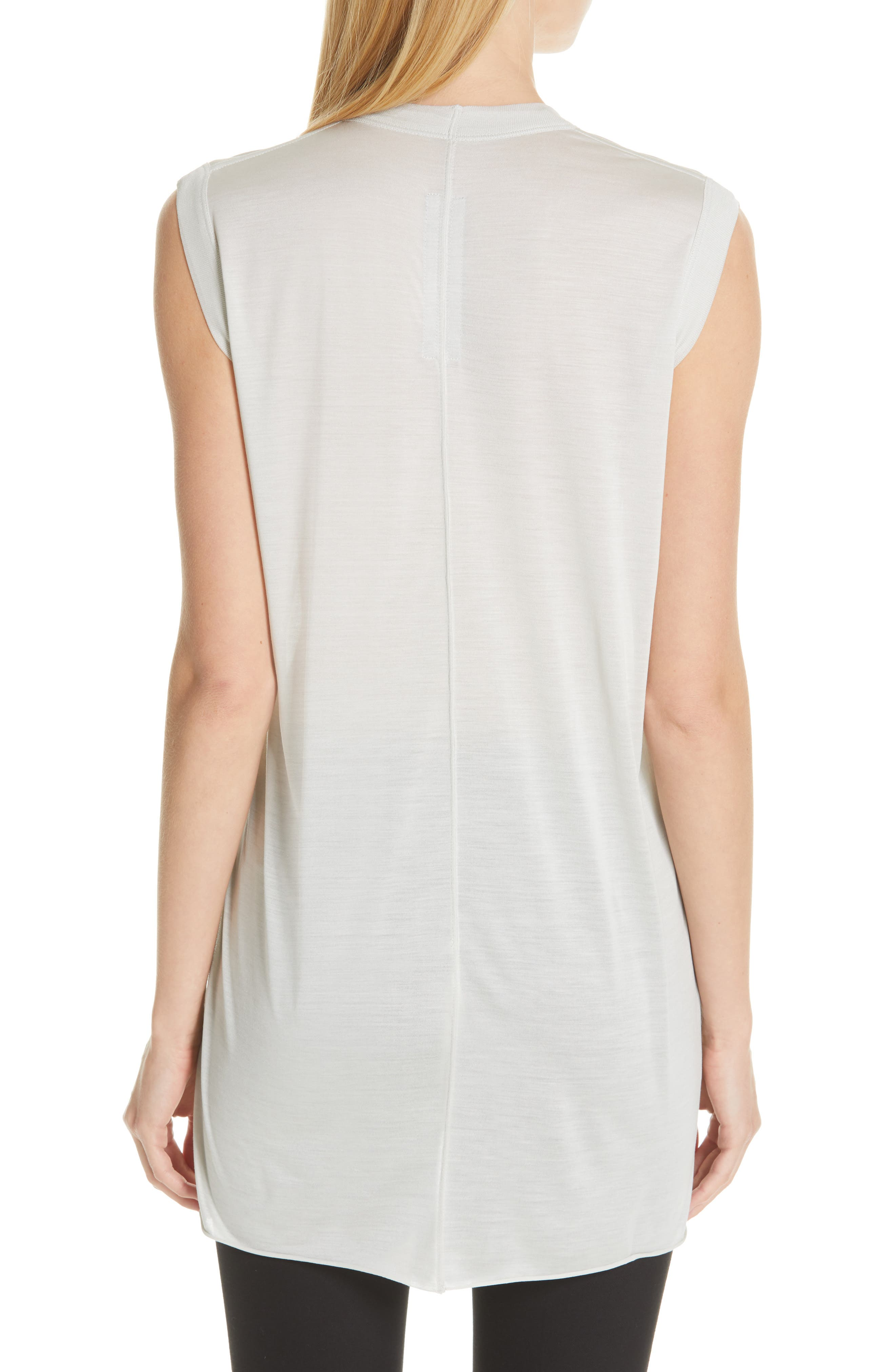 RICK OWENS,                             Silk Jersey Tee,                             Alternate thumbnail 2, color,                             OYSTER