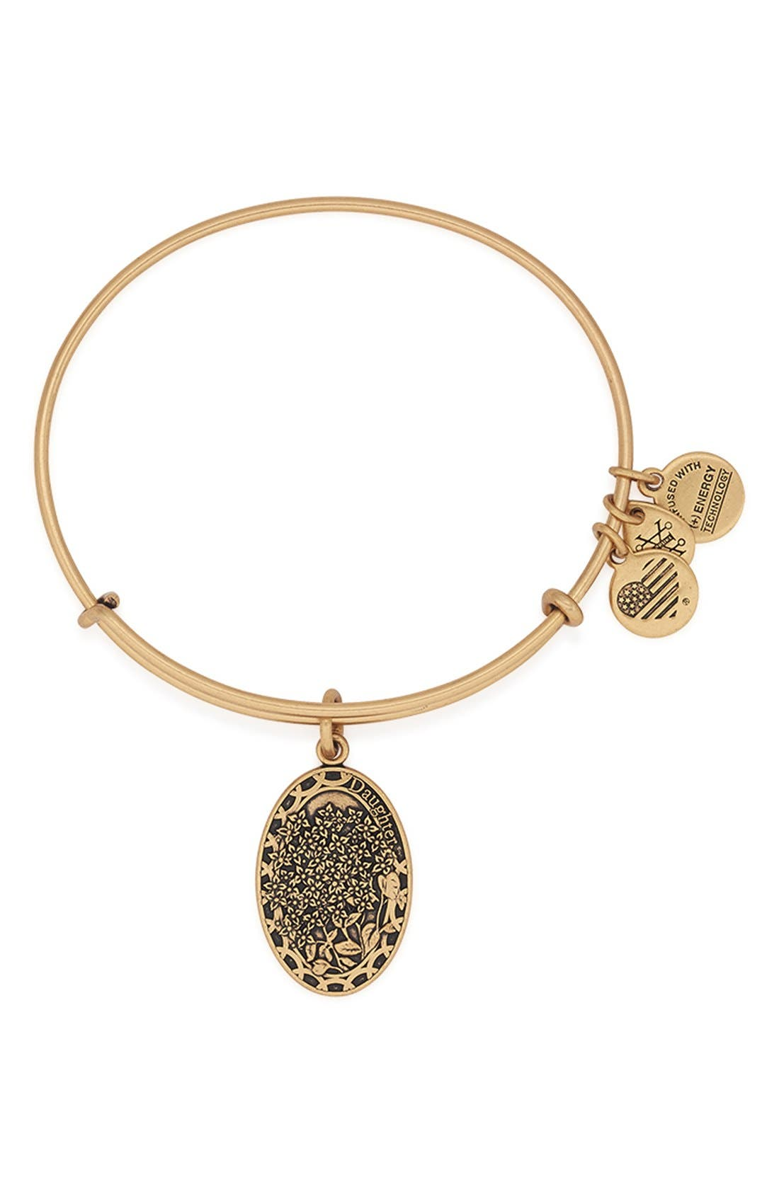 'I Love You Daughter' Expandable Wire Bangle,                         Main,                         color, 710