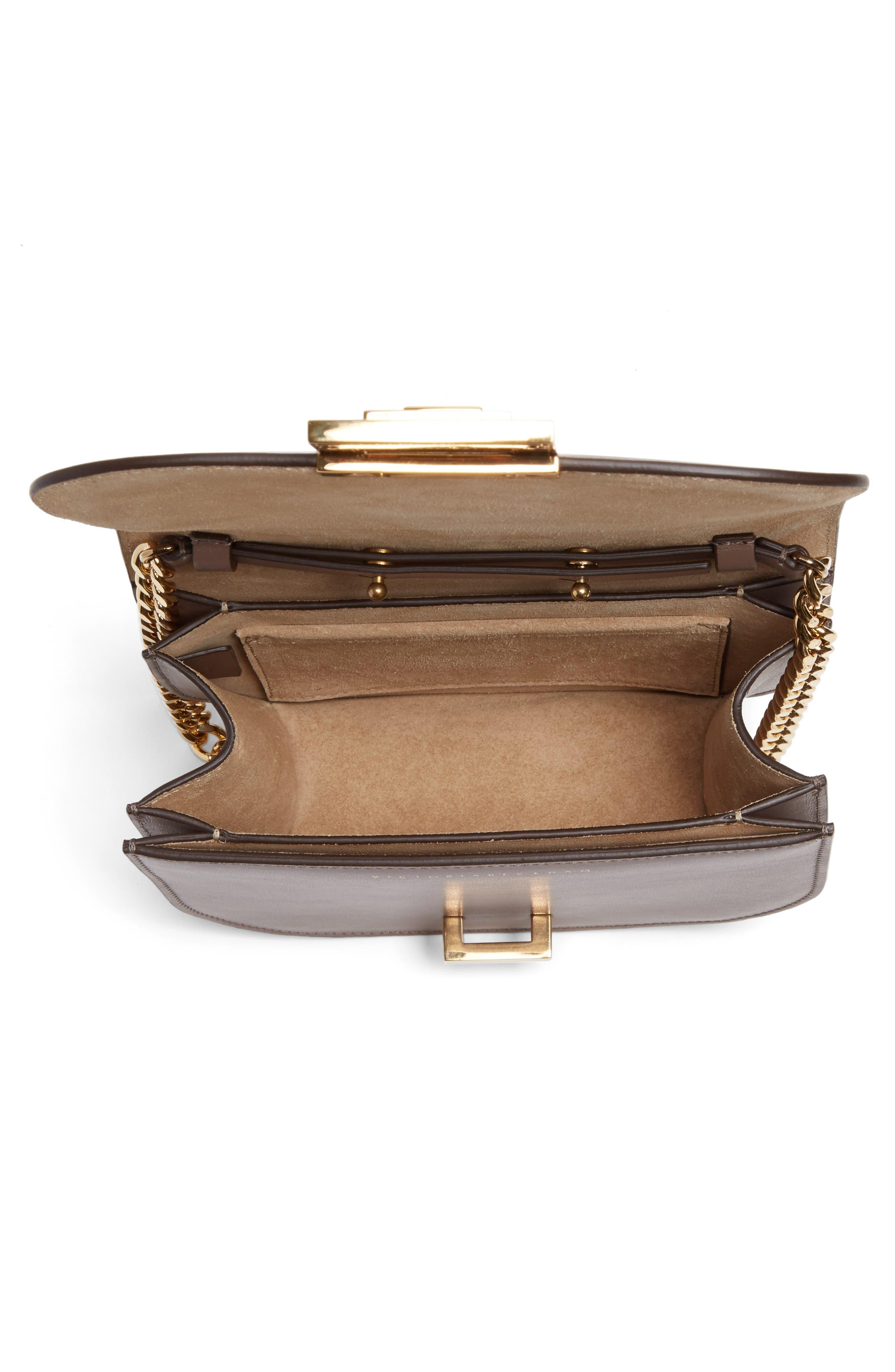 Medium Box Leather Shoulder Bag,                             Alternate thumbnail 4, color,                             200
