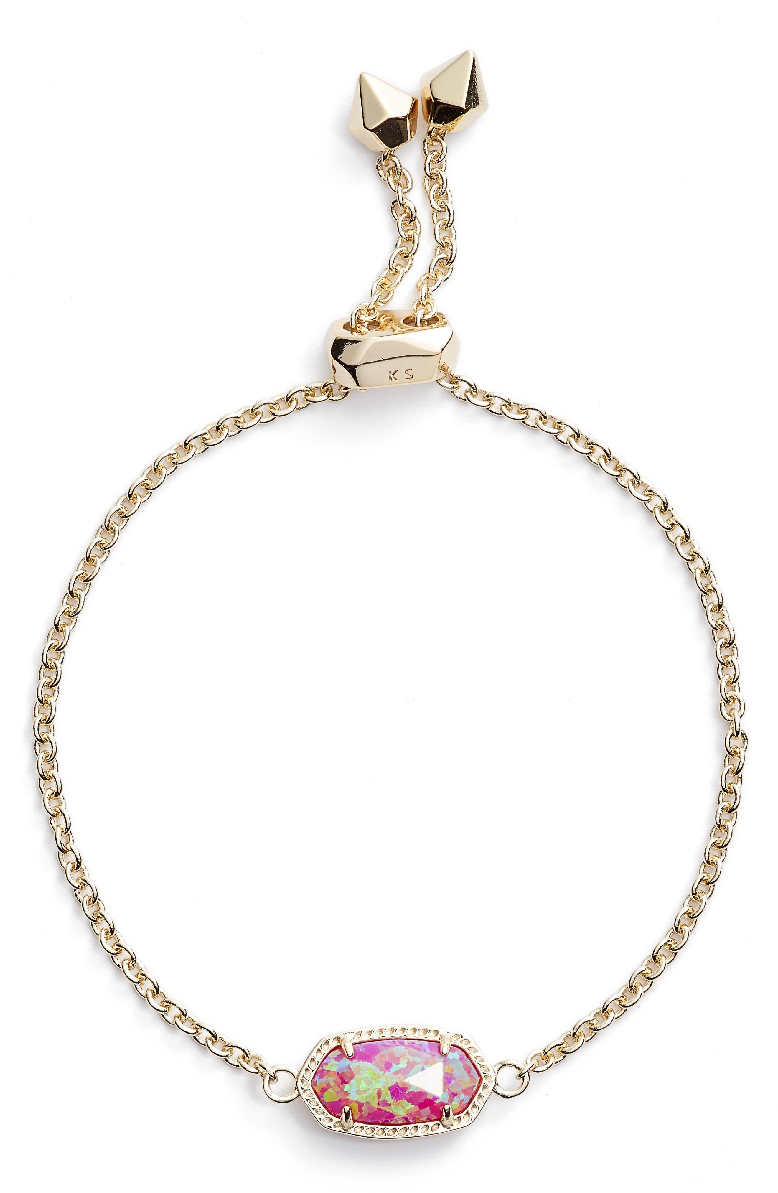 Elaina Bracelet,                         Main,                         color, PINK KYOCERA OPAL/ GOLD