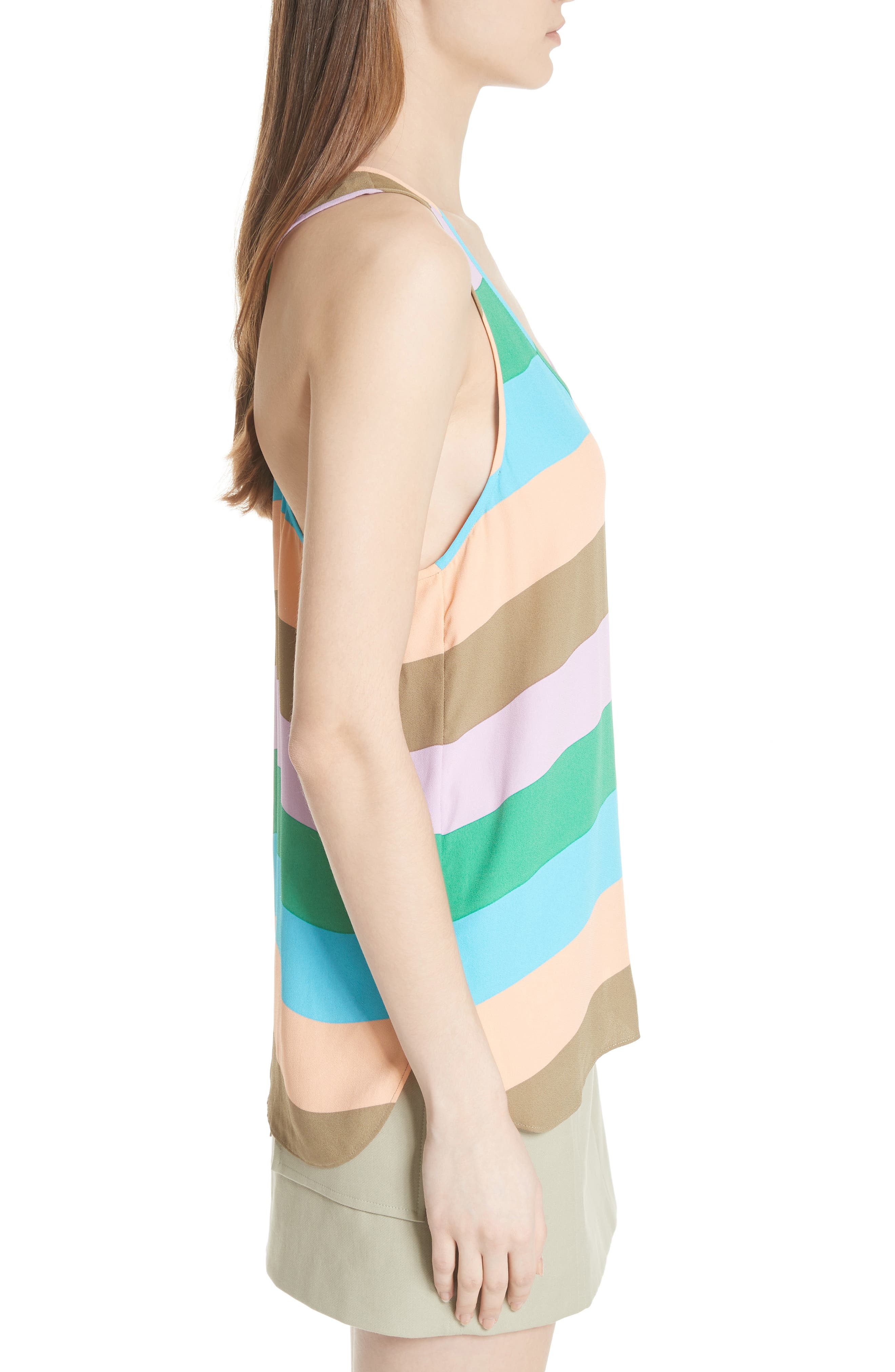 Julian Stripe Tank,                             Alternate thumbnail 3, color,                             620