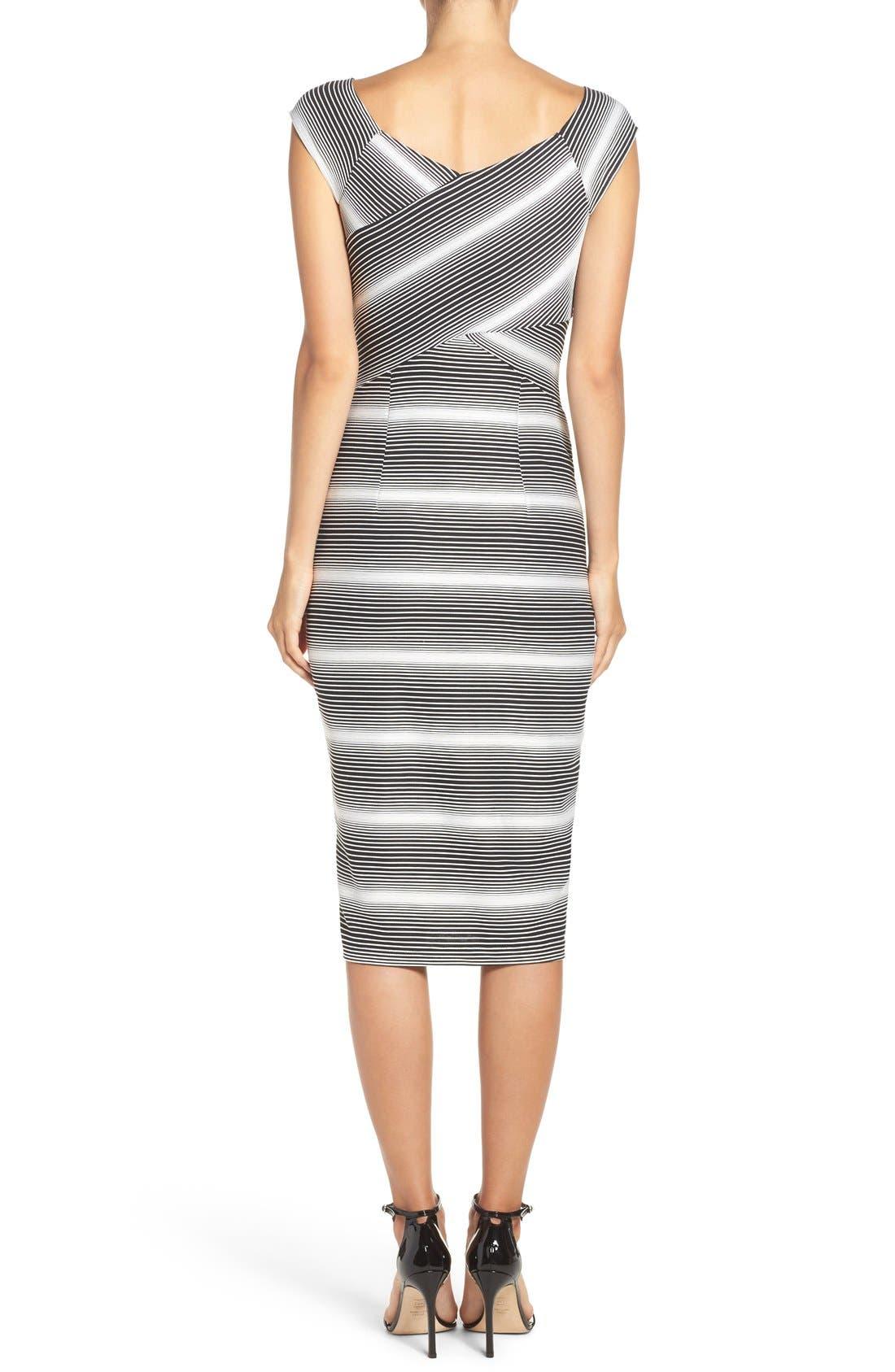 Stripe Jersey Sheath Dress,                             Alternate thumbnail 2, color,                             109