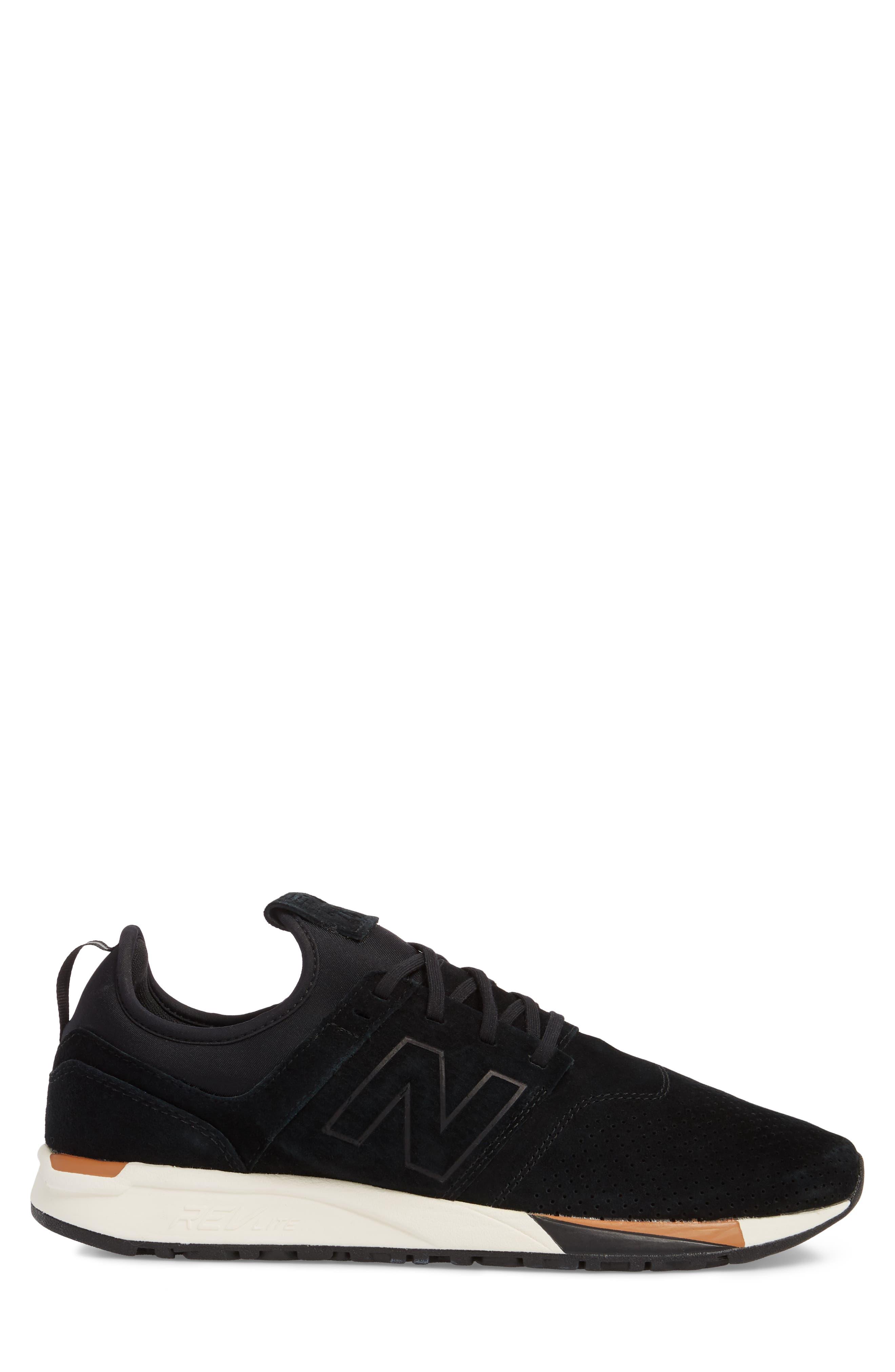 247 Luxe Sneaker,                             Alternate thumbnail 3, color,                             BLACK