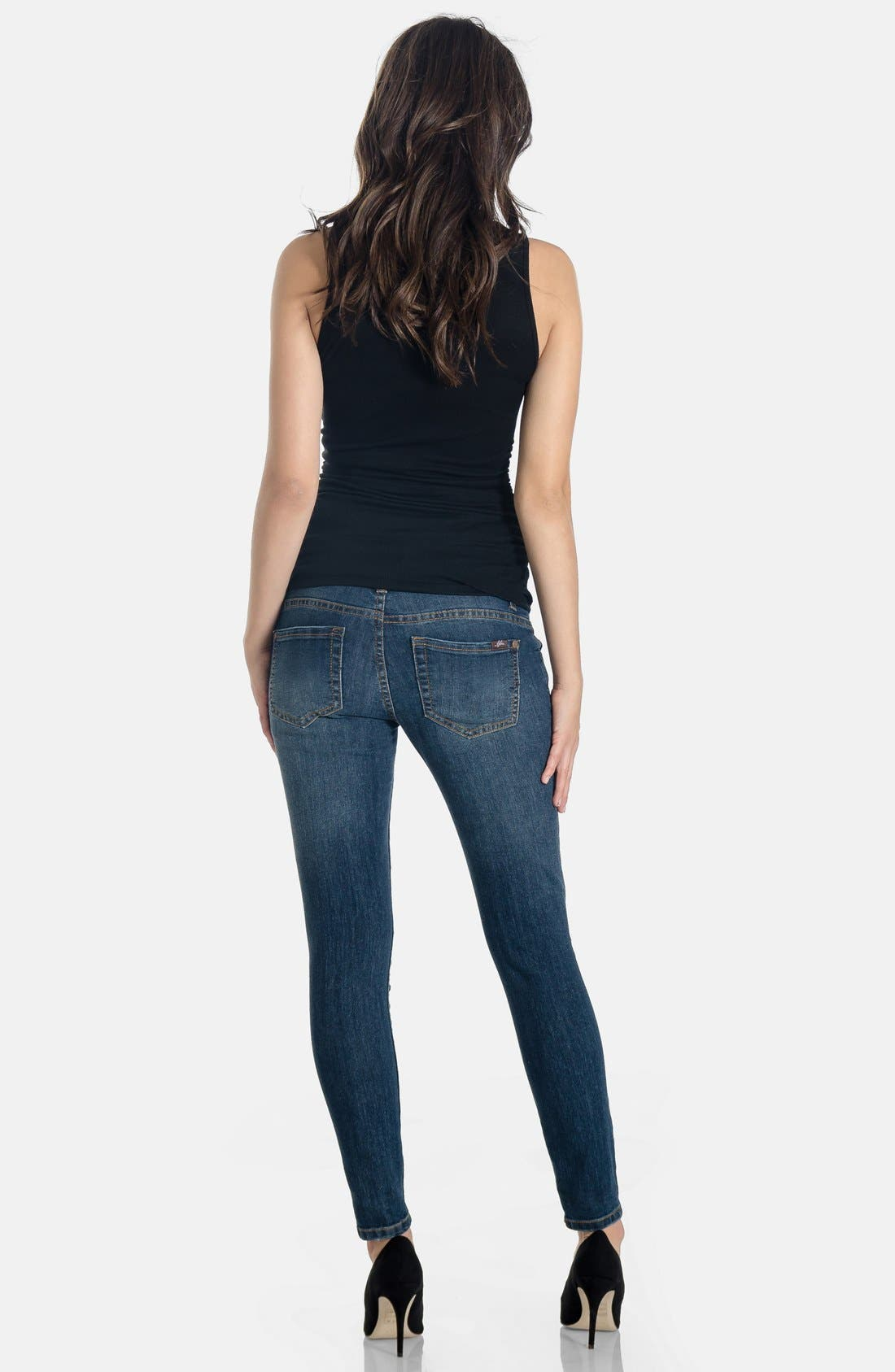 Skinny Maternity Jeans,                             Alternate thumbnail 19, color,