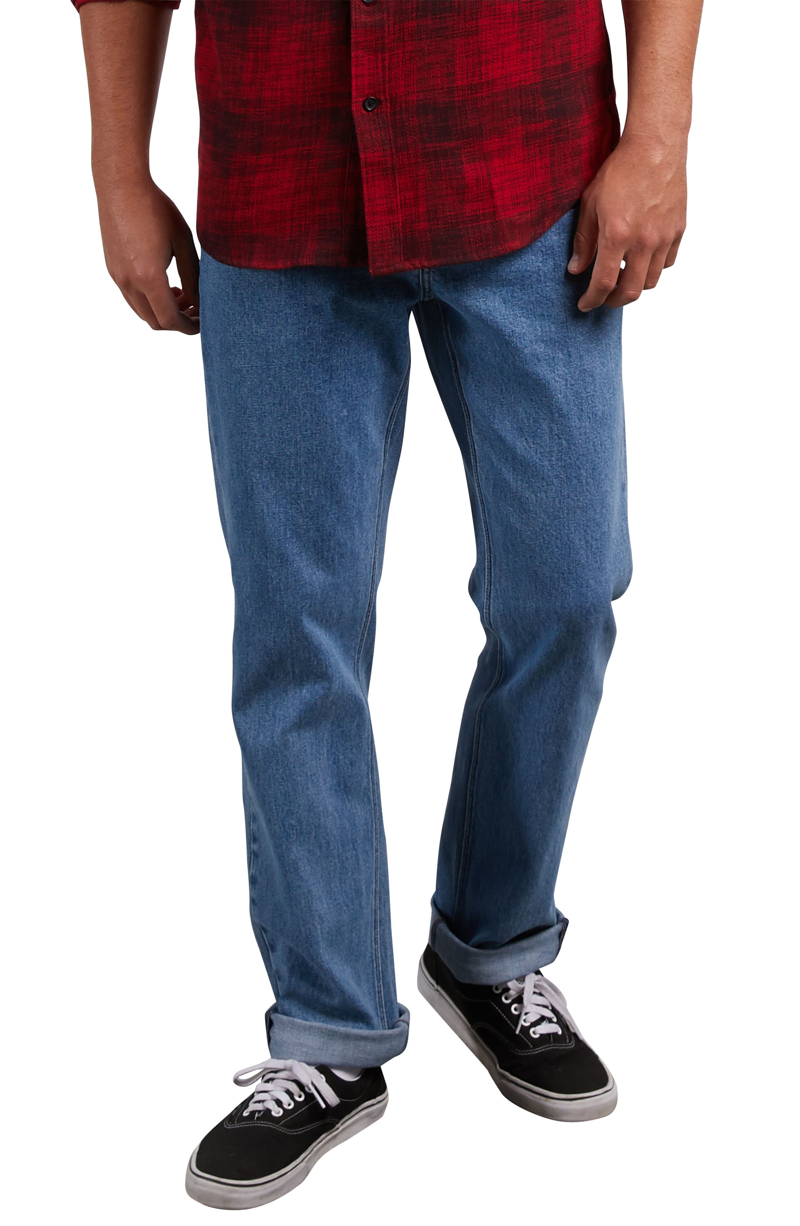 Solver Straight Leg Jeans,                         Main,                         color, STONE BLUE