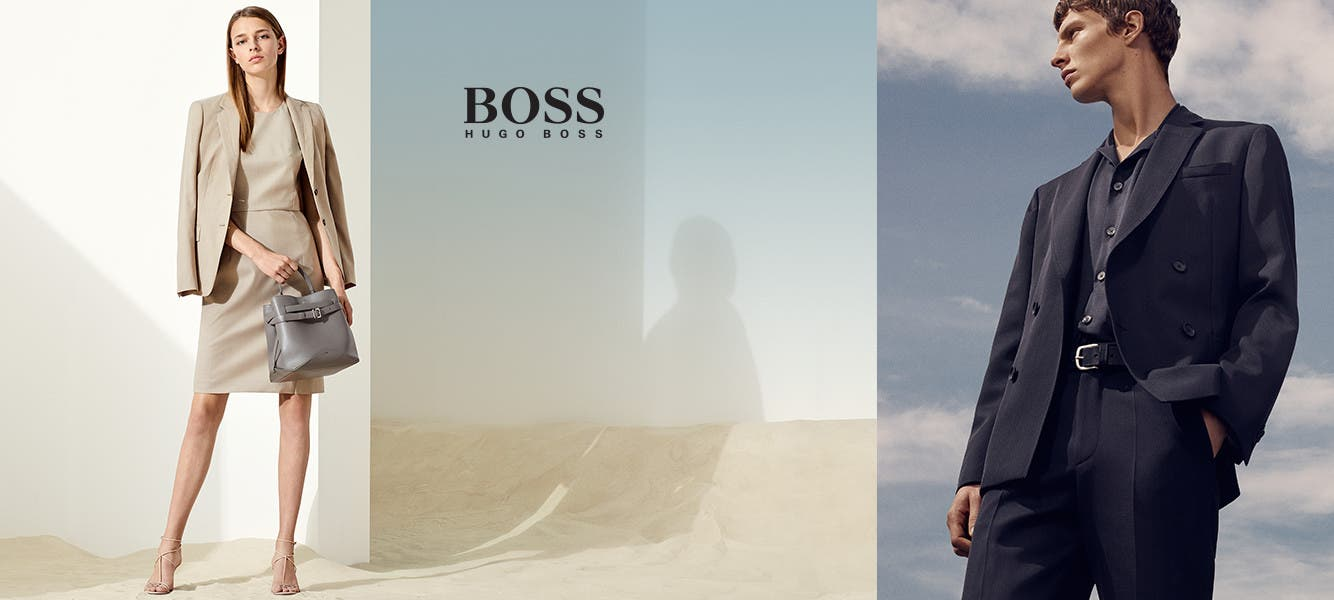 Hugo Boss for men and women.
