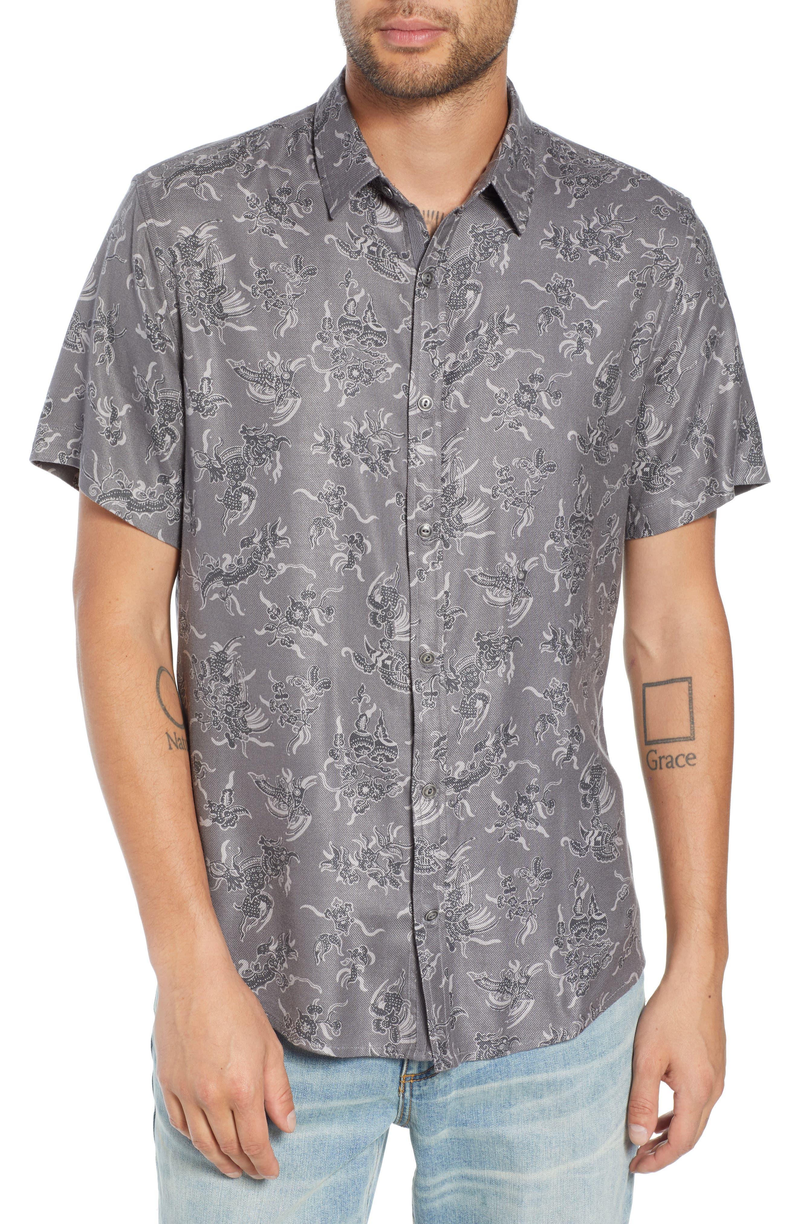 Trim Fit Print Sport Shirt,                         Main,                         color, 030