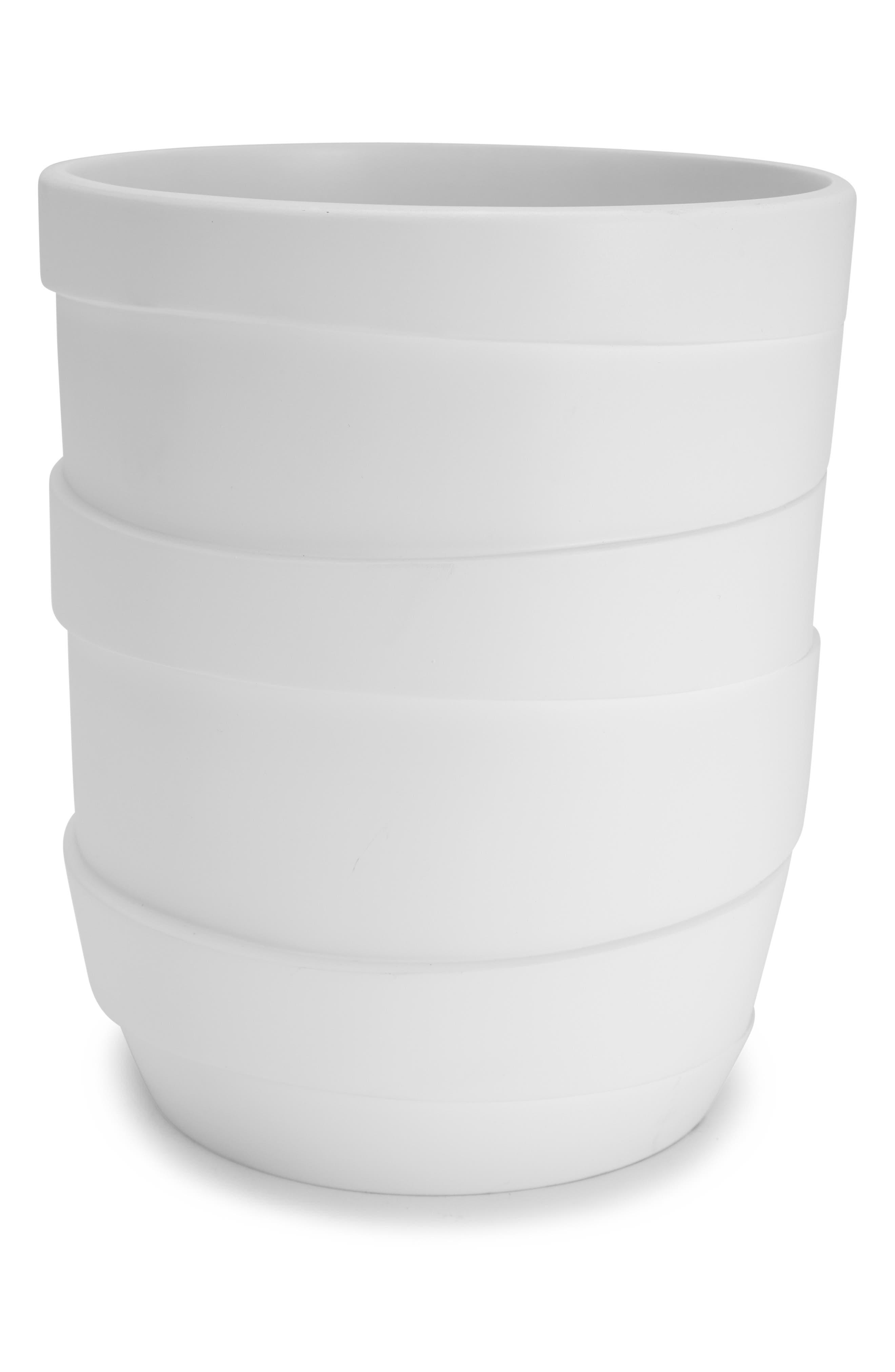 Alpine Waste Basket,                             Main thumbnail 1, color,                             WHITE