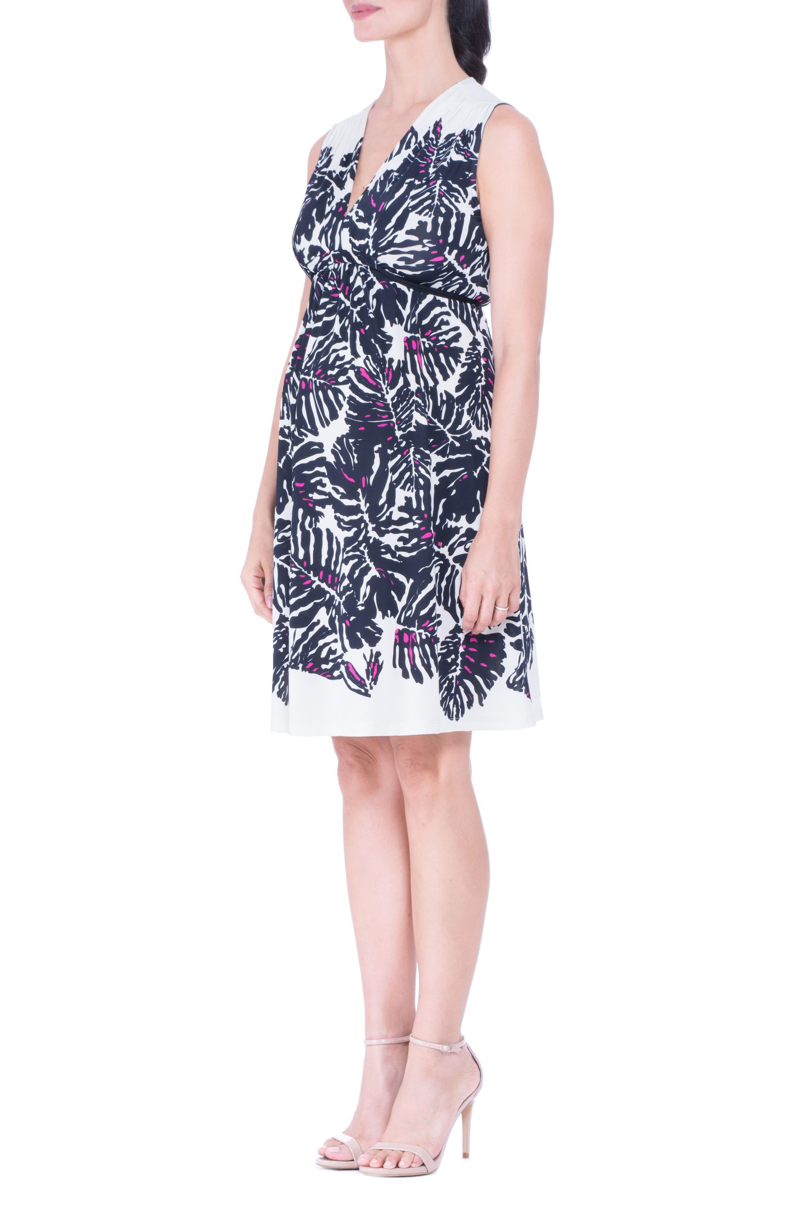 Print Maternity Dress,                             Alternate thumbnail 4, color,