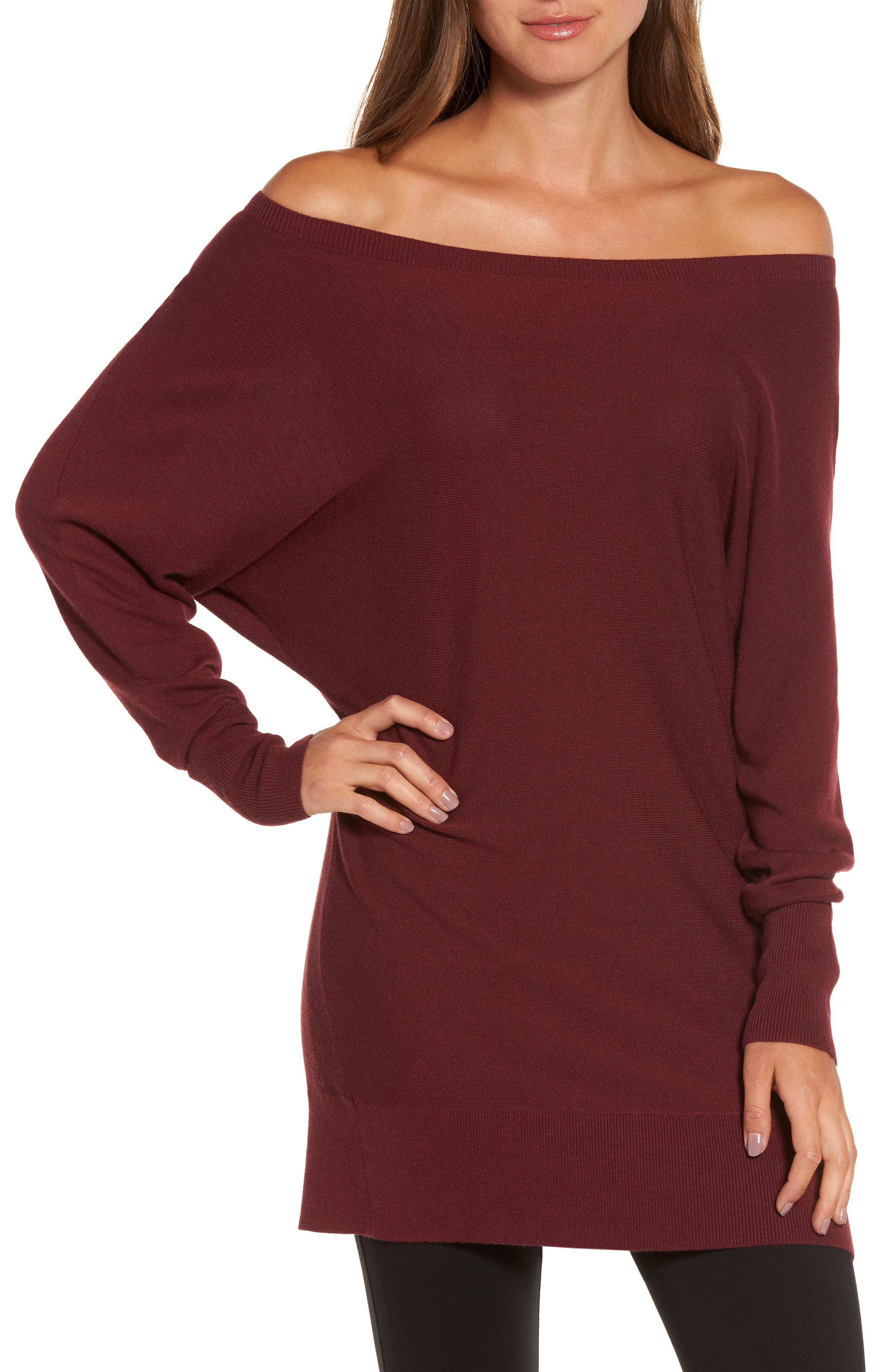 Off the Shoulder Sweater Tunic,                             Main thumbnail 6, color,