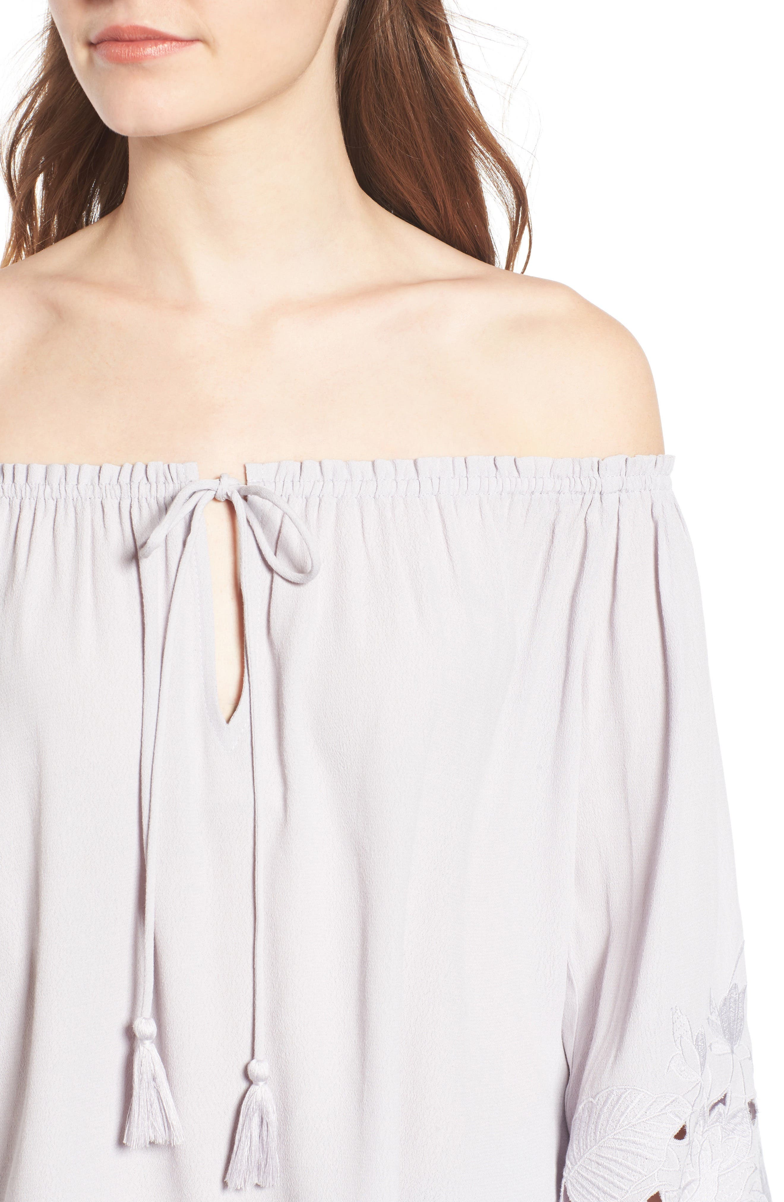 ASTR THE LABEL,                             Embroidered Off the Shoulder Top,                             Alternate thumbnail 4, color,                             500