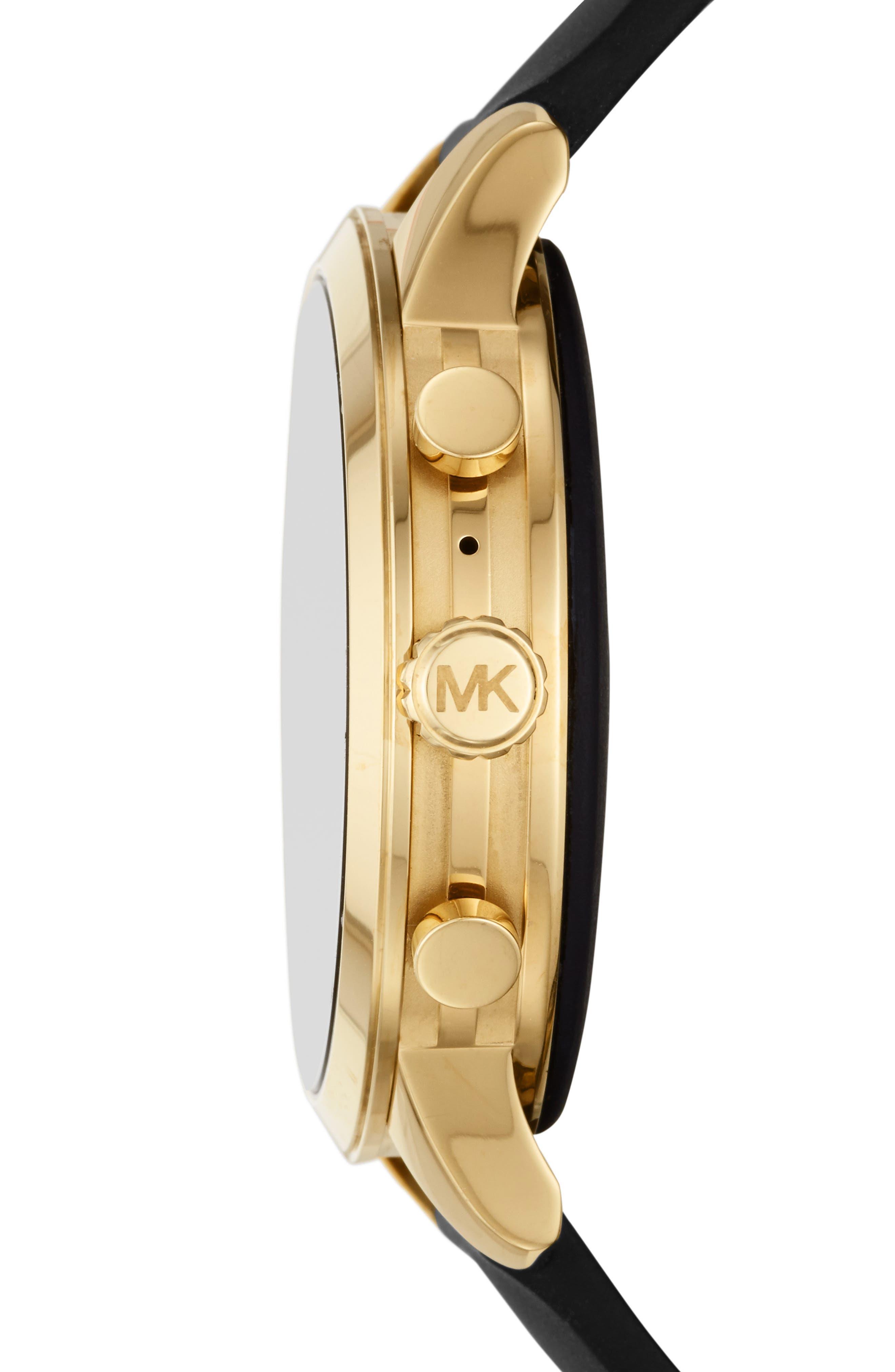 MICHAEL Michael Kors Access Runway Smart Watch, 41mm,                             Alternate thumbnail 3, color,                             BLACK/ GOLD