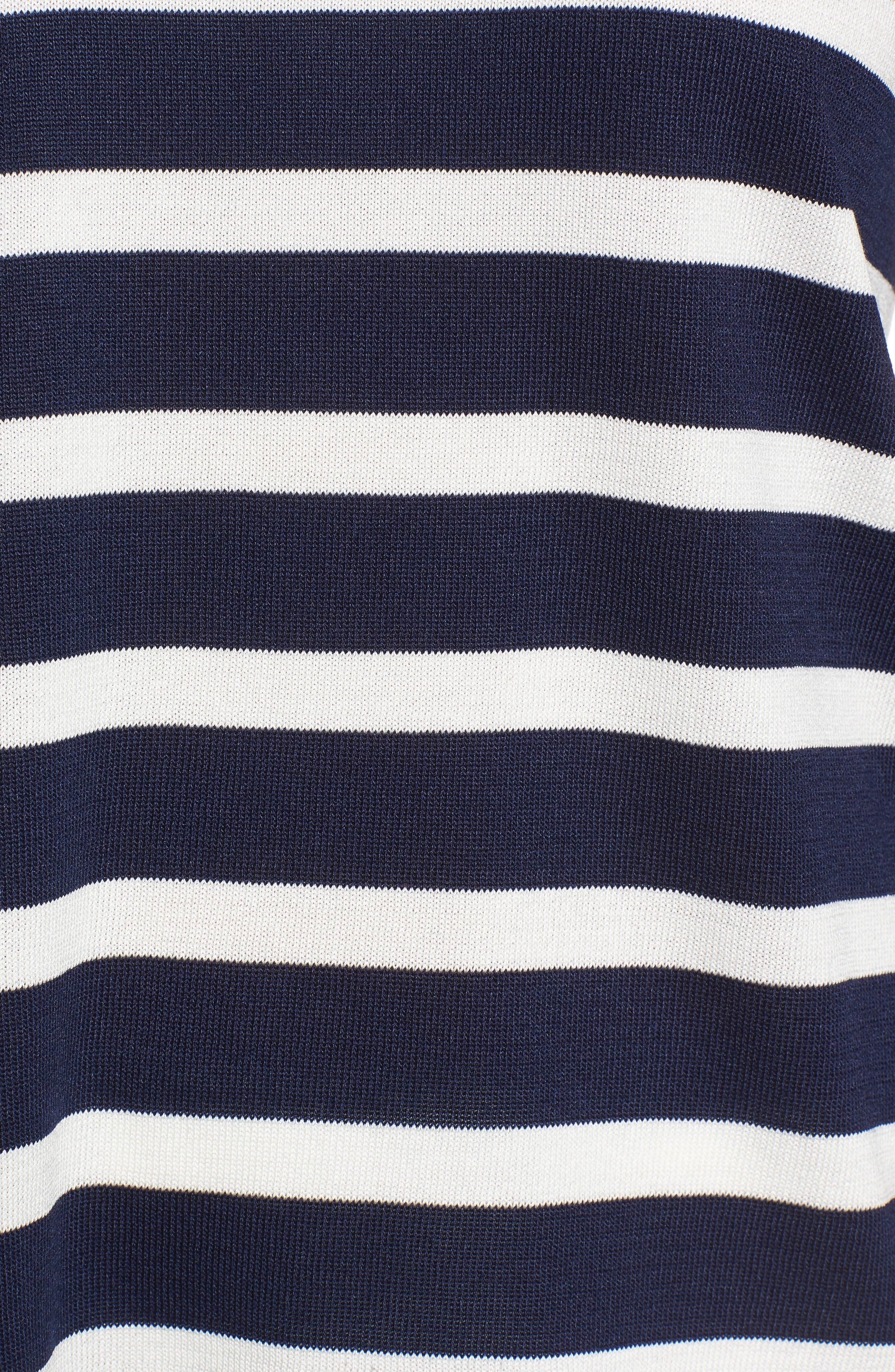 Asymmetrical Striped Sweater,                             Alternate thumbnail 11, color,