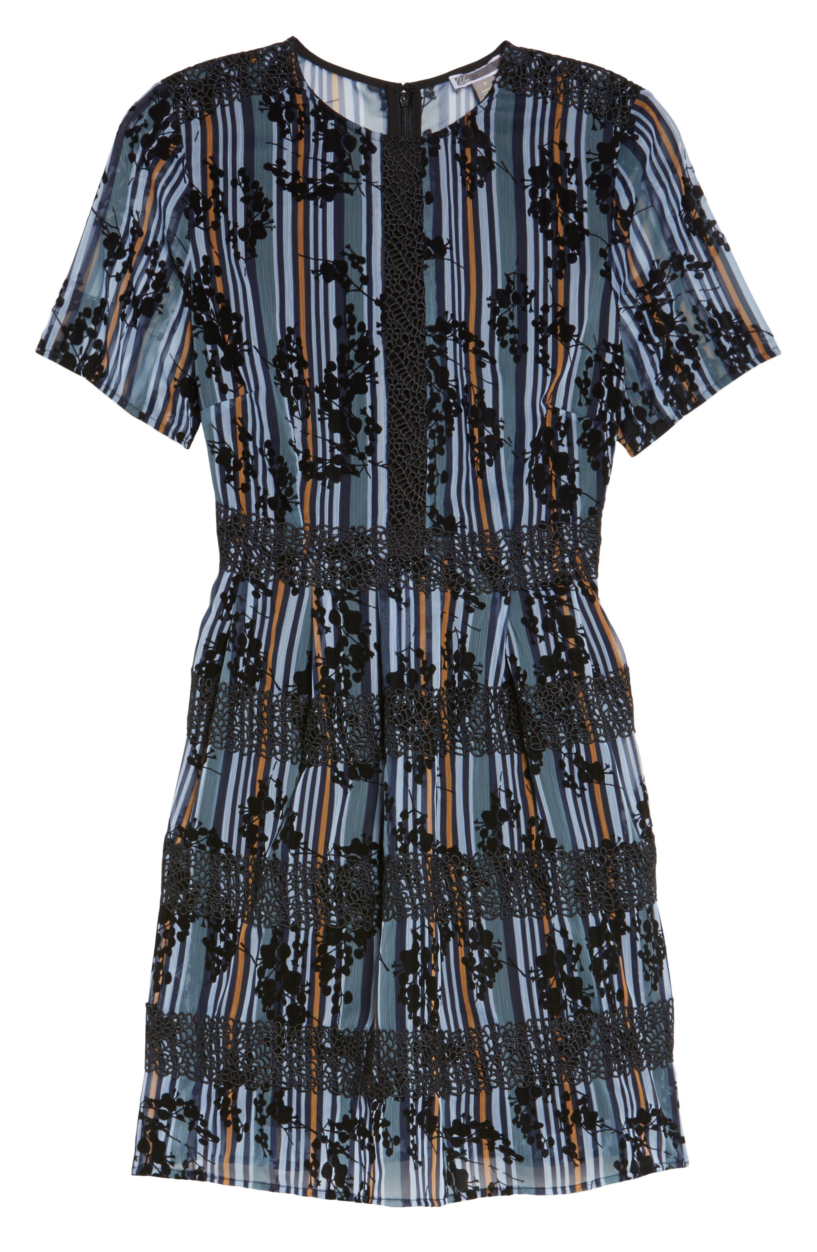 Stripe Minidress,                             Alternate thumbnail 6, color,                             400